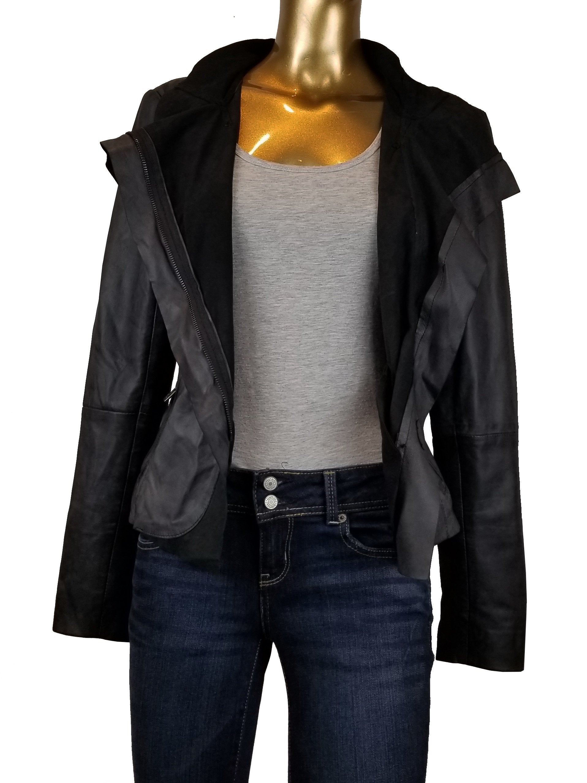 Bod & Christensen Women's Leather Moto Jacket, Soft leather that keeps you warm inside and shine outside , Black, 100% Leather shell, jacket, vintage women leather jacket, couture women black leather jacket, sleek zipper leather jacket$100-$199.99jacket, vintage women leather jacket, couture women black leather jacket, sleek zipper leather jacket
