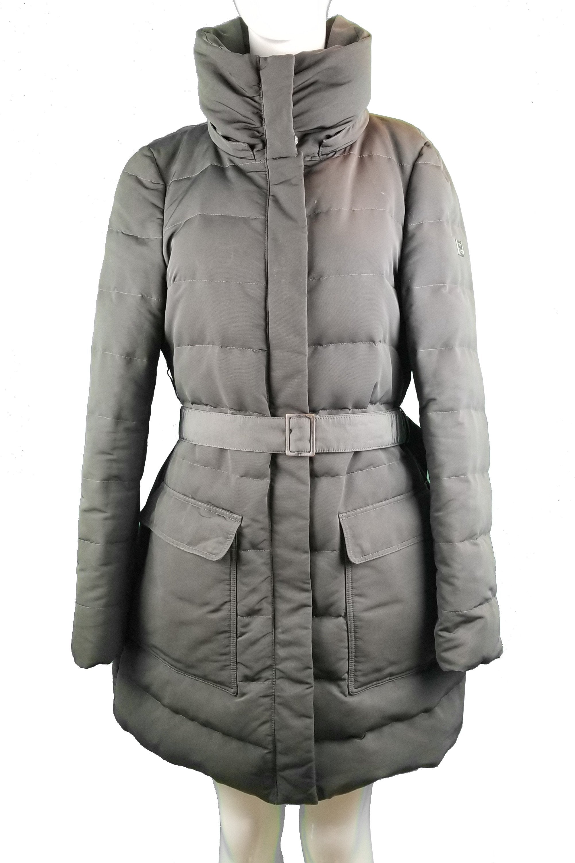 Escada Sport Down Jacket, Dressing warm doesn't have to be dull! This  winter jacket will keep you away from the cold and make you feel so stylish., Grey, Lining 100% Polyester; filling 70% Goose Down, 30% goose Quill, women's Jackets & Coats, women's Grey Jackets & Coats, Escada Sport women's Jackets & Coats, women's down jacket, women's warm winter jacket, down jacket, long winter down overcoat