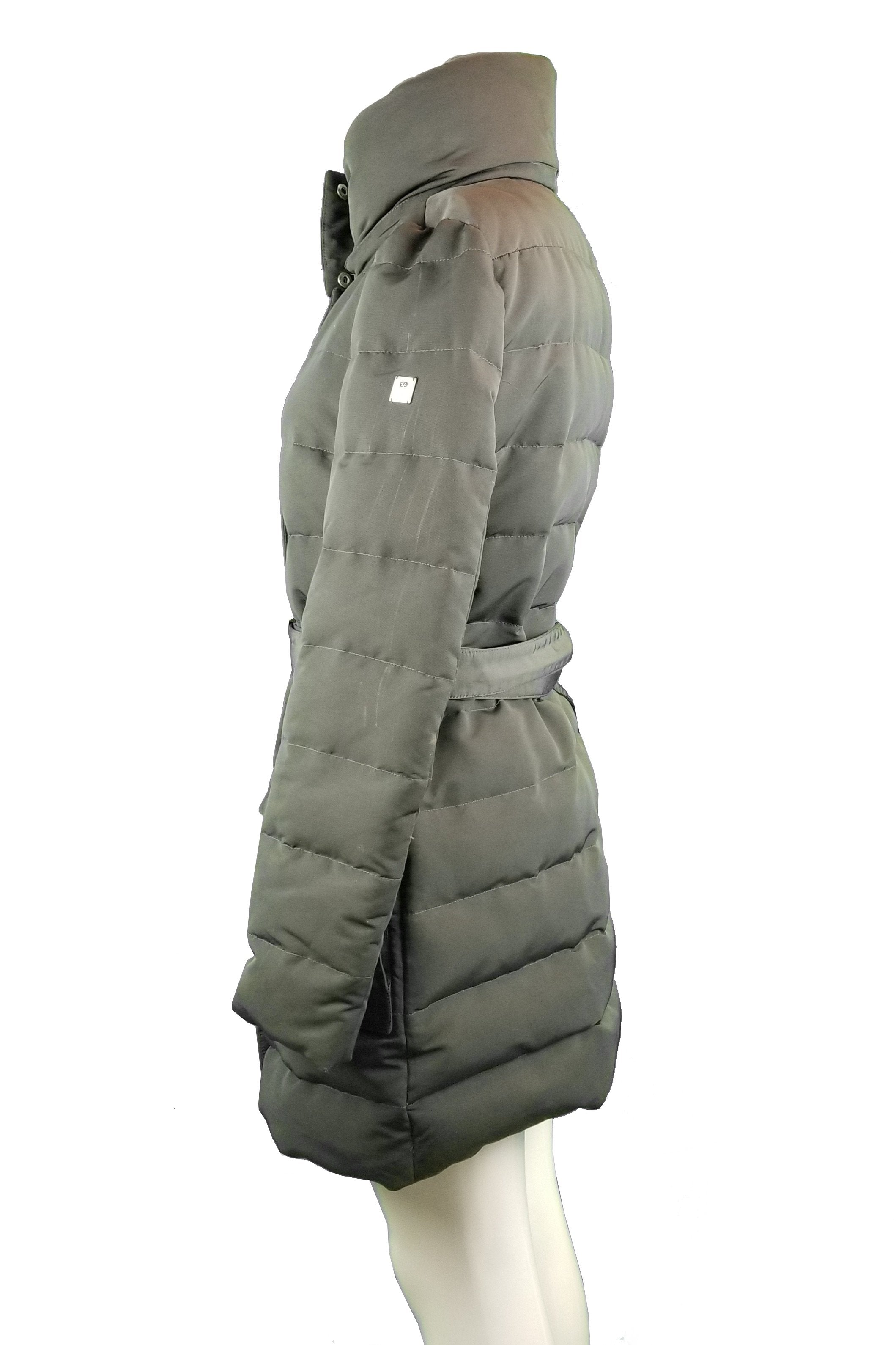 Escada Sport Down Jacket, Dressing warm doesn't have to be dull! This  winter jacket will keep you away from the cold and make you feel so stylish., Grey, Lining 100% Polyester; filling 70% Goose Down, 30% goose Quill, women's down jacket, women's winter jacket, down jacket, long jacket, warm winter jacket