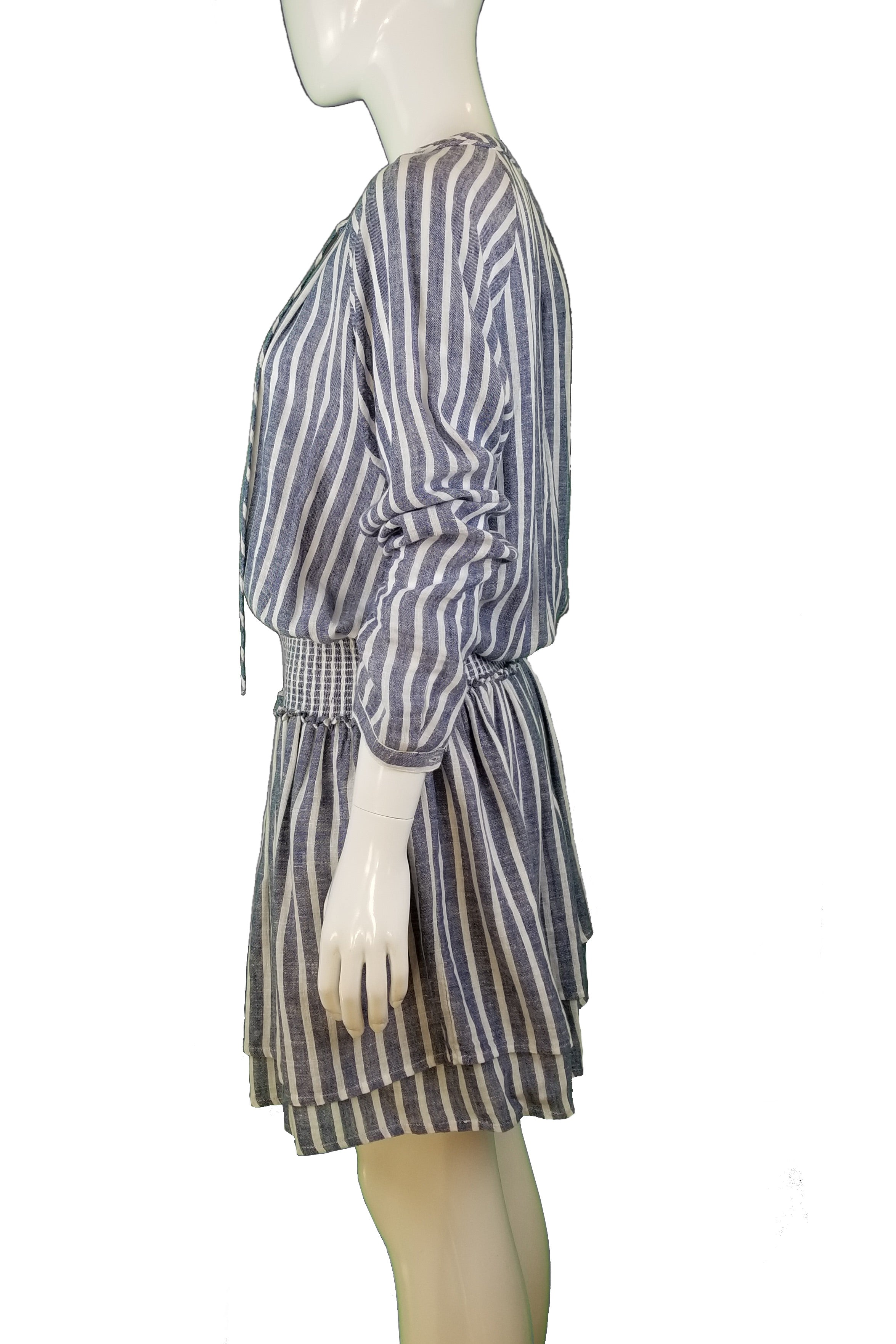 Rails Stripped Long Sleeve Dress