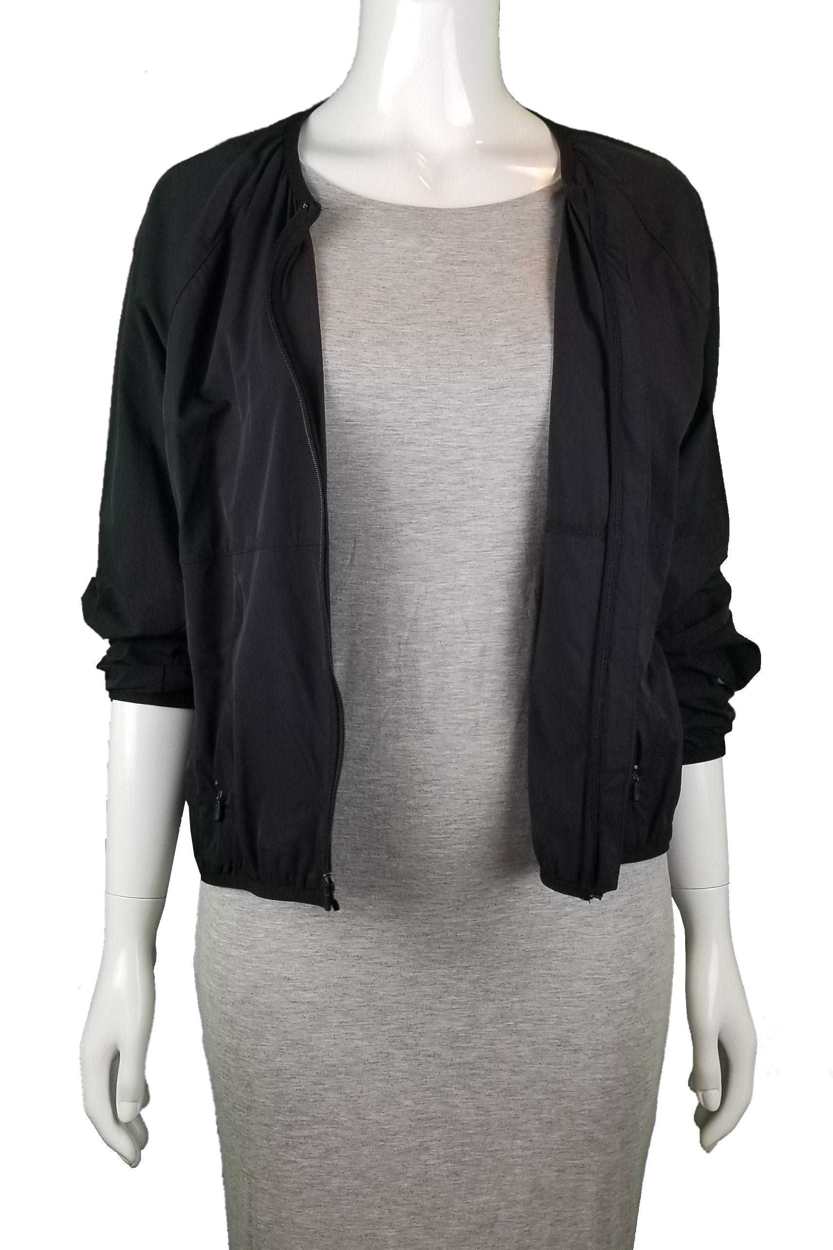 Nike Light Sport Jacket, Super light simple sport jacket that you can wear in various occasions, Black, 80% Nylon 20% Spandex, women's Jackets & Coats, women's Black Jackets & Coats, Nike women's Jackets & Coats, women's sport jacket, women's black sport jacket with front pockets, women's black bomber jacket
