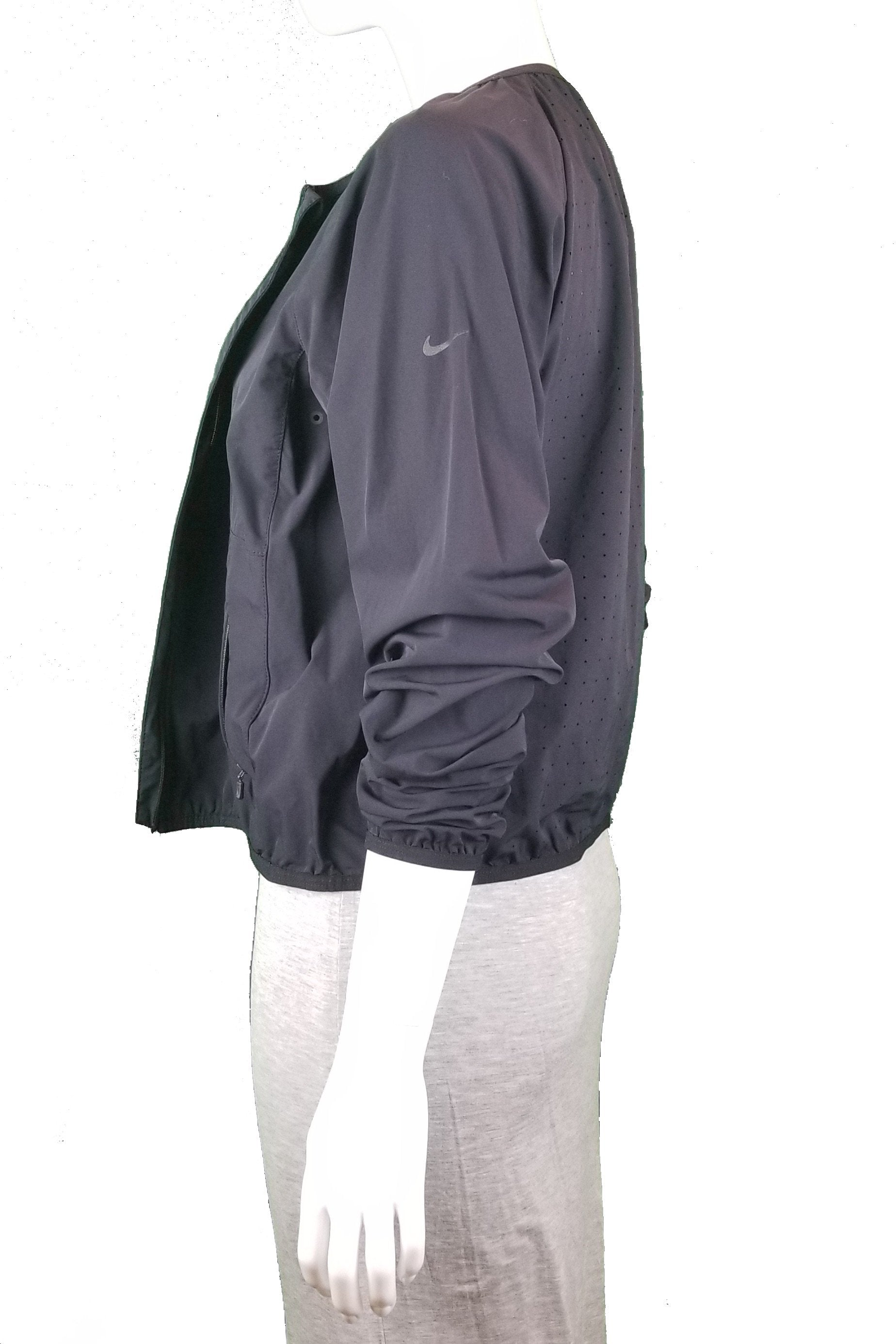 Nike Light Sport Jacket, Super light simple sport jacket that you can wear in various occasions, Black, 80% Nylon 20% Spandex, women's sport jacket, women's black sport jacket