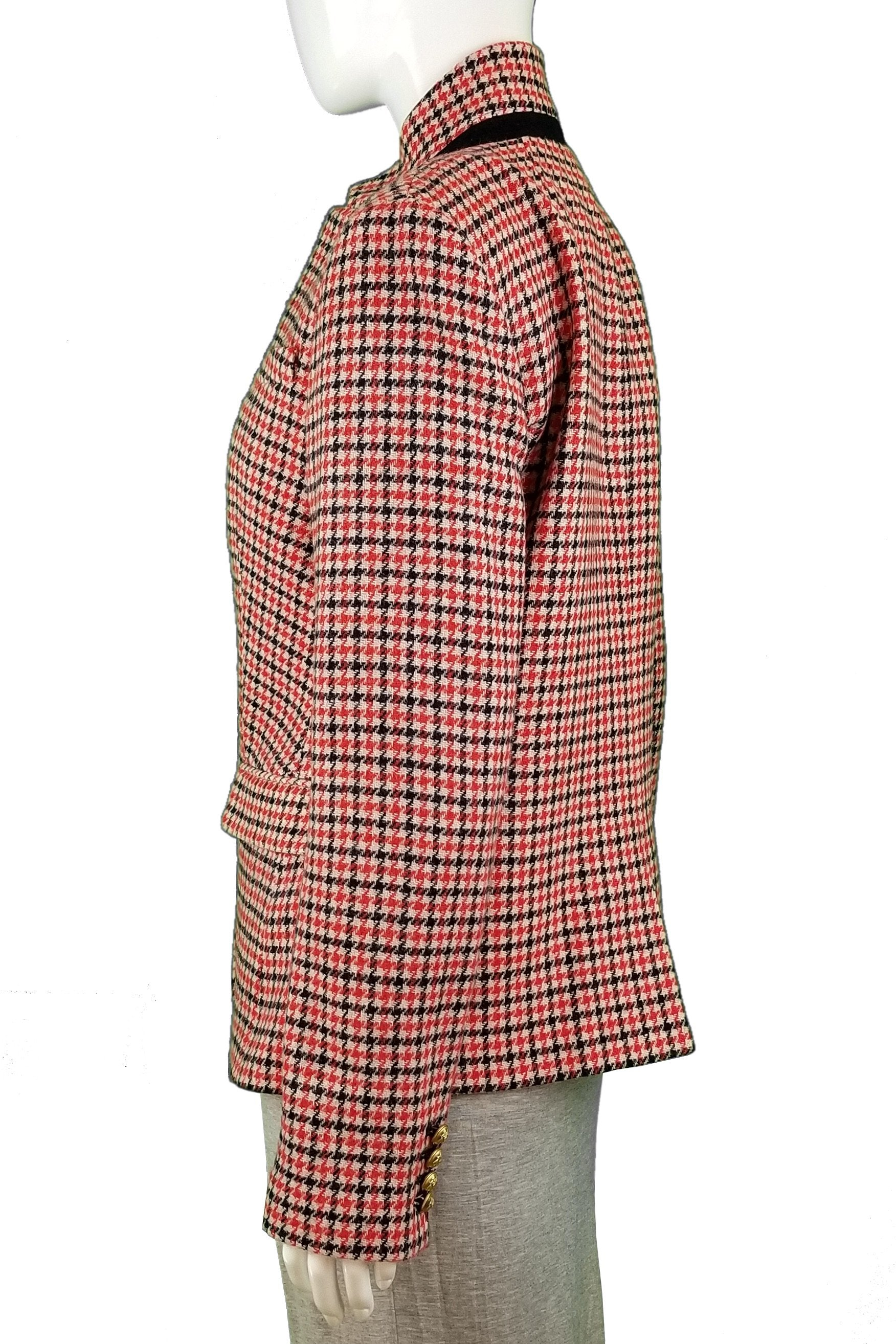 J Crew Plaid Wool Jacket, Any fashionable Boss Lady deserves an elegant and professional wool jacket., Red, 80% Wool, 20% Nylon, women's jacket, women's thick jacket, women's fall jacket, women's spring jacket, women's plaid jacket