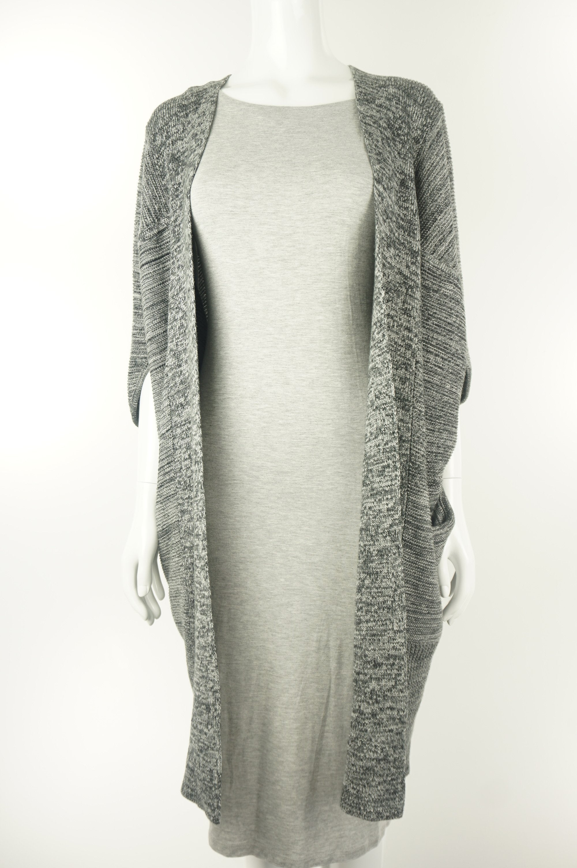 Babaton Long Cardigan, Relaxed open front cardigan made with silk and cashmere., Grey, 55% silk, 40 cotton, 5% cashmere, , women's Jackets & Coats, women's Grey Jackets & Coats, Babaton women's Jackets & Coats, Babaton women's long knitted cardigan, Aritzia women's midi sweater, women's warm long cardigan, women's warm long cardigan, Aritzia women's maxi sweater