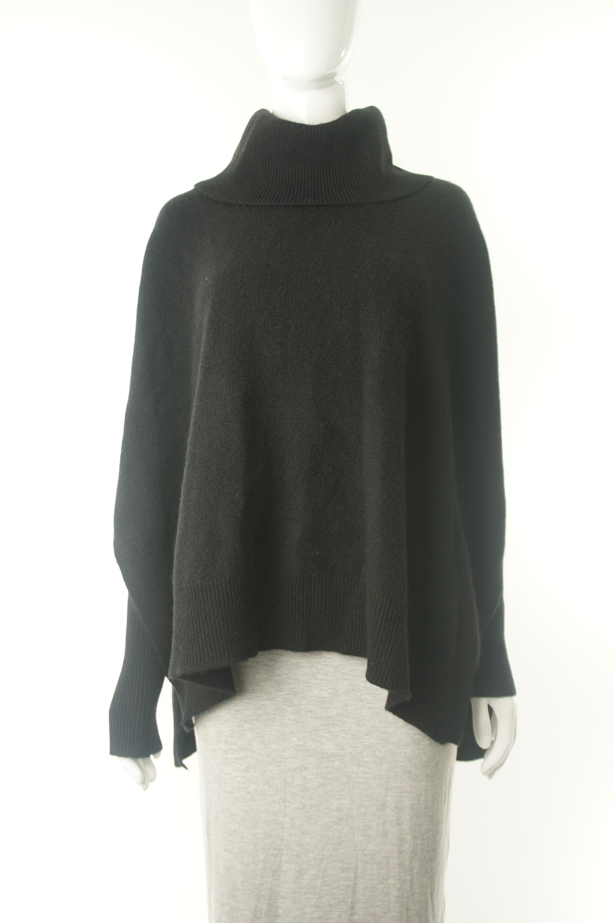 Lord & Taylor Cashmere Cape Poncho, Super soft pullover for a warm and elegant look., Black, 100% Cashmere, women's Tops, women's Black Tops, Lord & Taylor women's Tops, women's cashmere poncho, women's pullover sweater, lord&taylor cashmere sweater