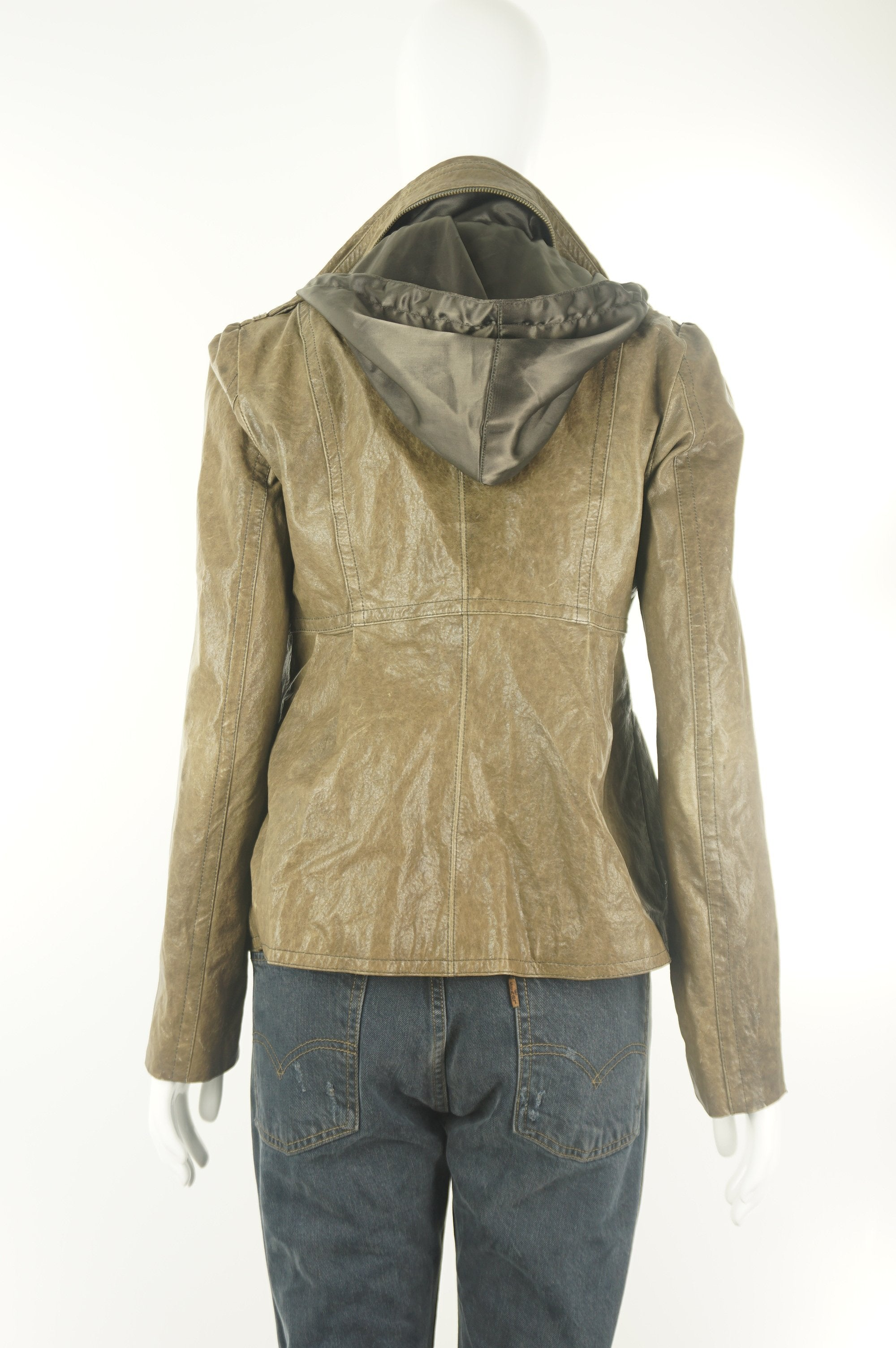 Mackage Leather Jacket, Rustic looking Mackage Faux leather jacket., Brown, Exterior: 84% cotton, 14% polyurethane,