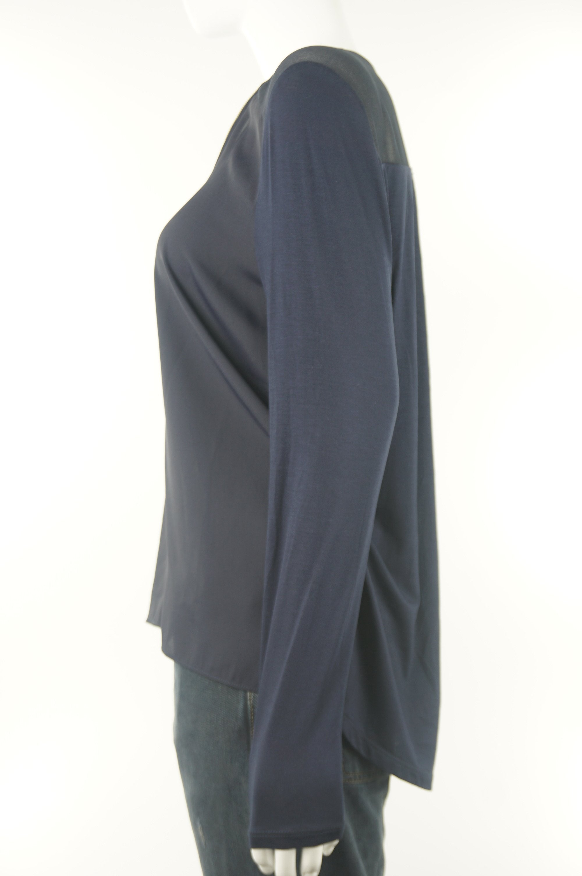 Ever New Open Placket Blouse , Comfortable to touch and relaxed fit, Blue, 93% Modal, 7% Elastane,