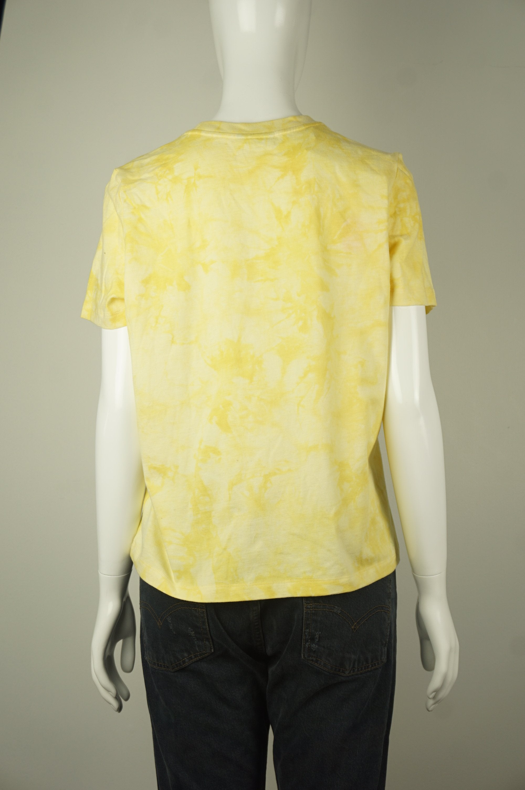 Frank and Oak Hippie's 60s-inspired tie-die yellow short sleeves shirt, What hippies got right, absolutely, in all occasions? Tie-die shirts, of course! This 60s-inspired statement piece is short-sleeved with crewneck, dropped shoulders, and a tie-die design. , Yellow, 100% Cotton. Comfortable and Breathable Fabric. ,