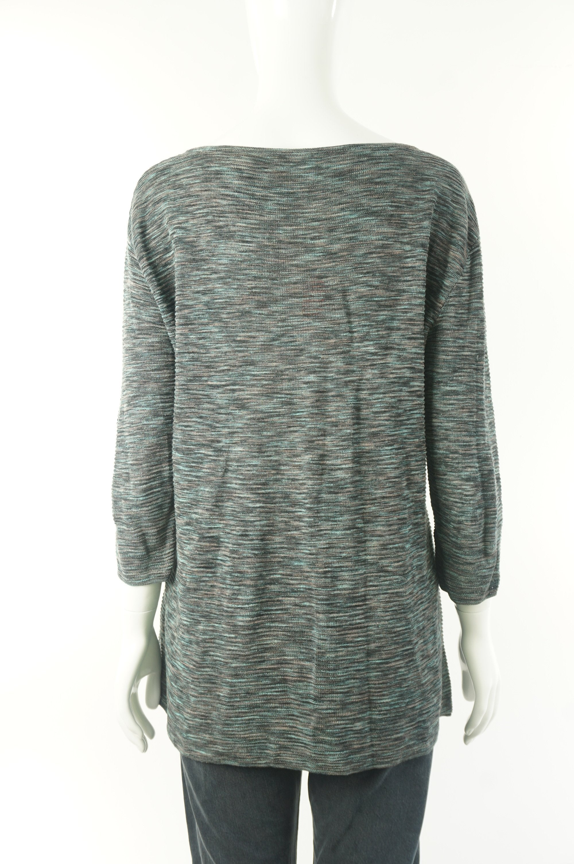 Wilfred Pullover Sweater, Relazed fit with dropped shoulder. Perfect for everyday wear., Grey, Green, 68% viscose, 28% linen, 12% Nylon, women's Tops, women's Grey, Green Tops, Wilfred women's Tops, wilfred loose sweater, arizia women's loose sweater, women's sweater, wilfred women's pullover