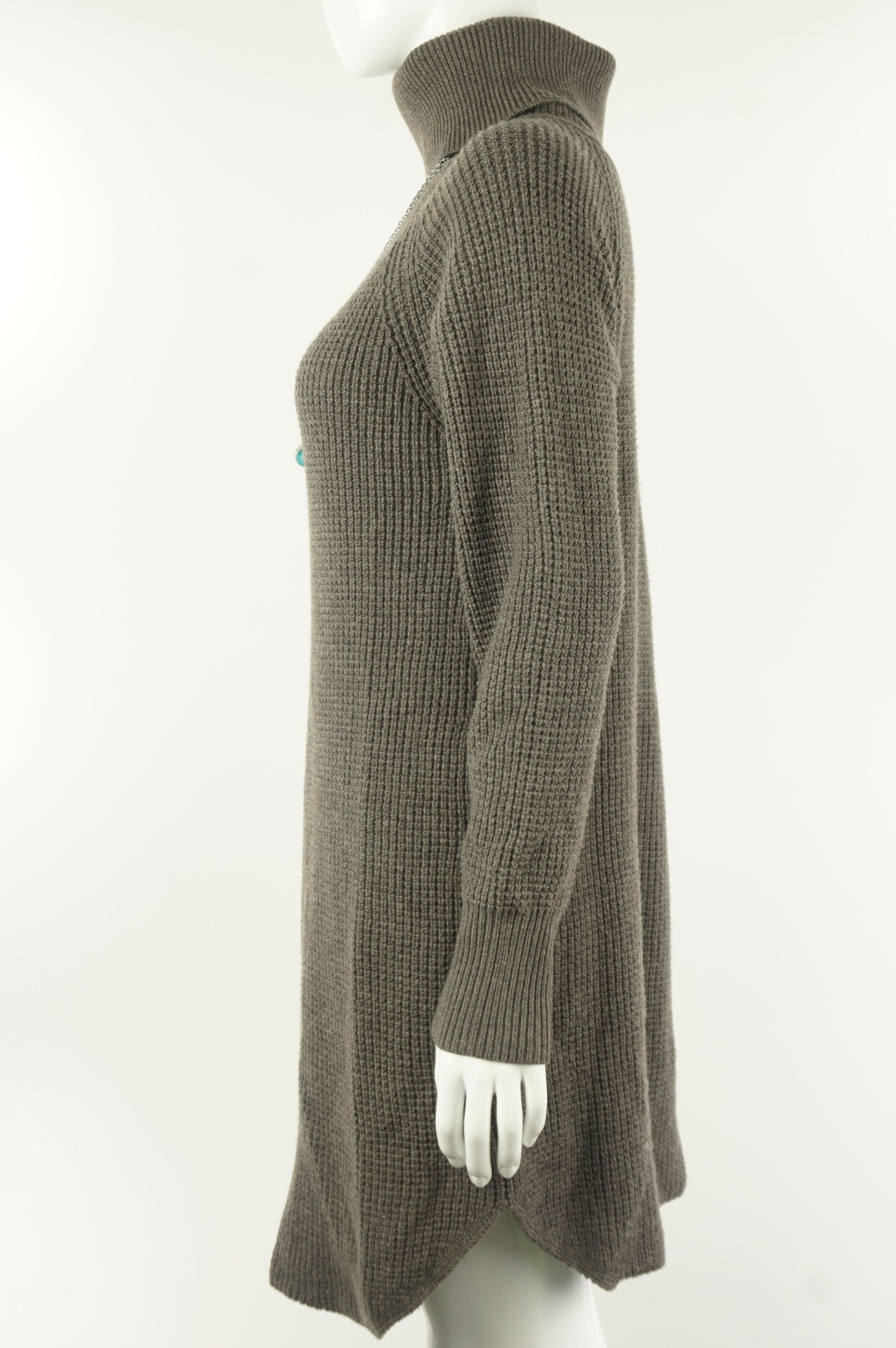 Wilfred Free Long Turtleneck Sweater Dress, Elegant and soft sweater dress for the perfect winter protection. 100% wool, which is what Canadian winter demands…, Brown, Grey, Body: 100% wool. Cuff: 96% wool, 1% Spandex, women's Tops, Dresses & Skirts, women's Brown, Grey Tops, Dresses & Skirts, Wilfred Free women's Tops, Dresses & Skirts, aritzia women's turtleneck sweater dress, wilfred free women's winter sweater dress, women's long sweater