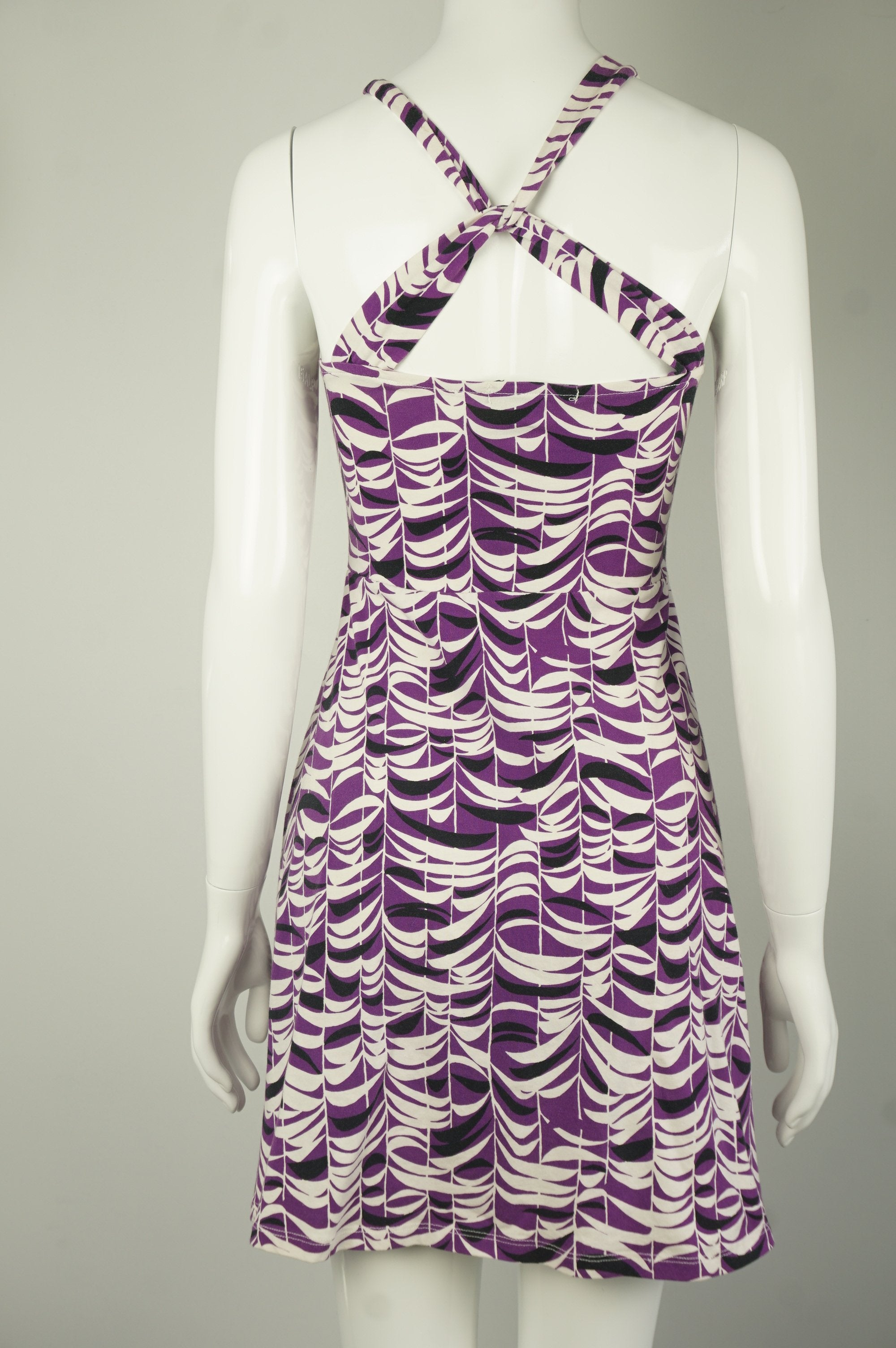 Forever 21 Cute Purple Zebra Print Flared Dress with Crossed Strap Back, Comfortable, stretchy, yet elegant, this flared dress with crossed strap will help you radiate in a special feminine charm. , Purple, White, 2 way stretch fabric, women's Dresses & Skirts, women's Purple, White Dresses & Skirts, Forever 21 women's Dresses & Skirts, Purple leaf patterns mini dress, dresses for outdoor events, party dresses, stretchy and body-cut flared dress