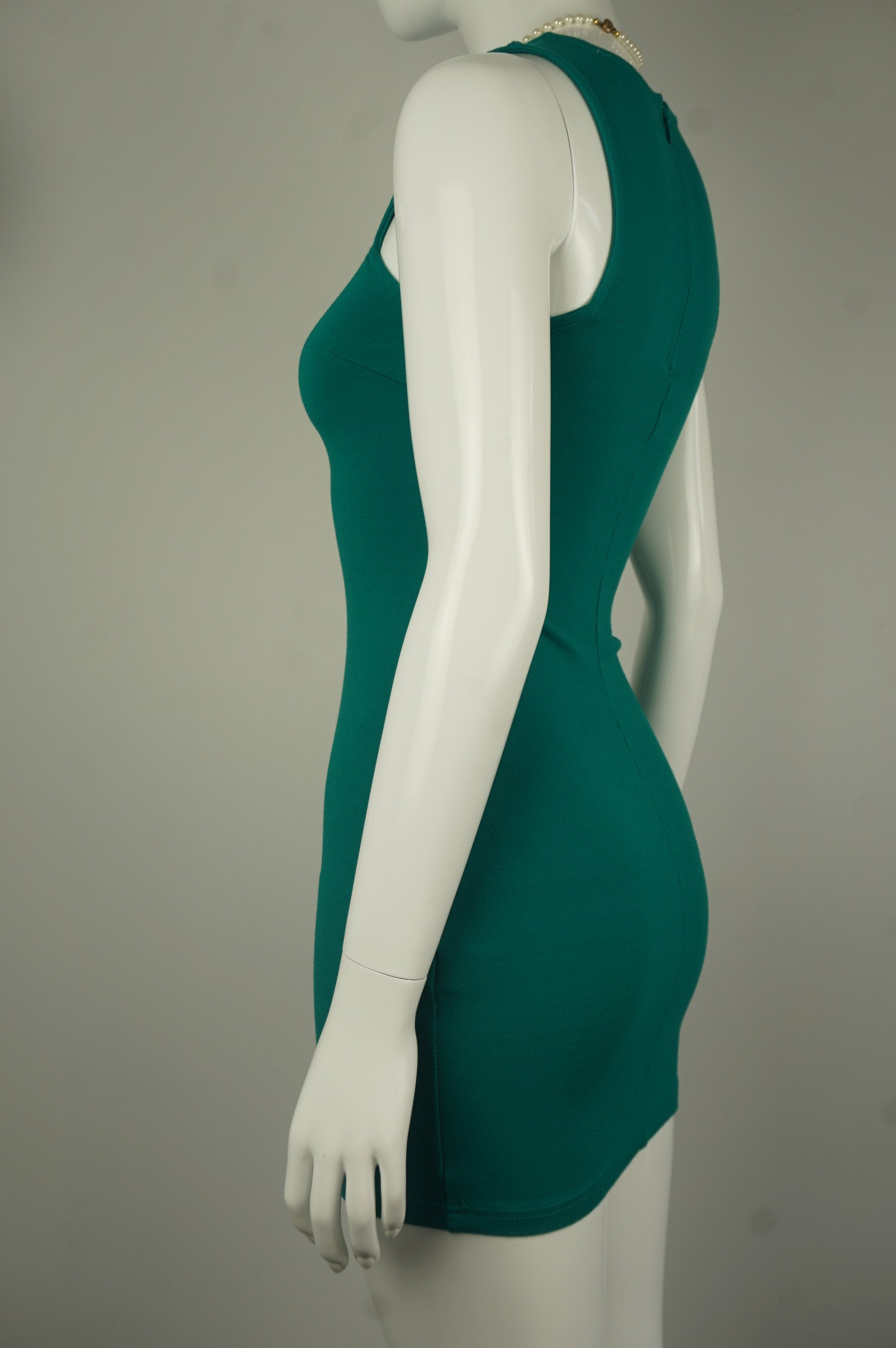 Forever 21 Vibrant Turquoise Bodycon Dress, We are loving this bright and shining bodycon dress for you! Made from four-stretchy fabric, this dress will color up your day and the party you're going to! , Green, 4-way stretchy fabric, women's Dresses & Skirts, women's Green Dresses & Skirts, Forever 21 women's Dresses & Skirts, Bodycon turquoise dress, bodycon party green dress, basic comfy stretchy dress