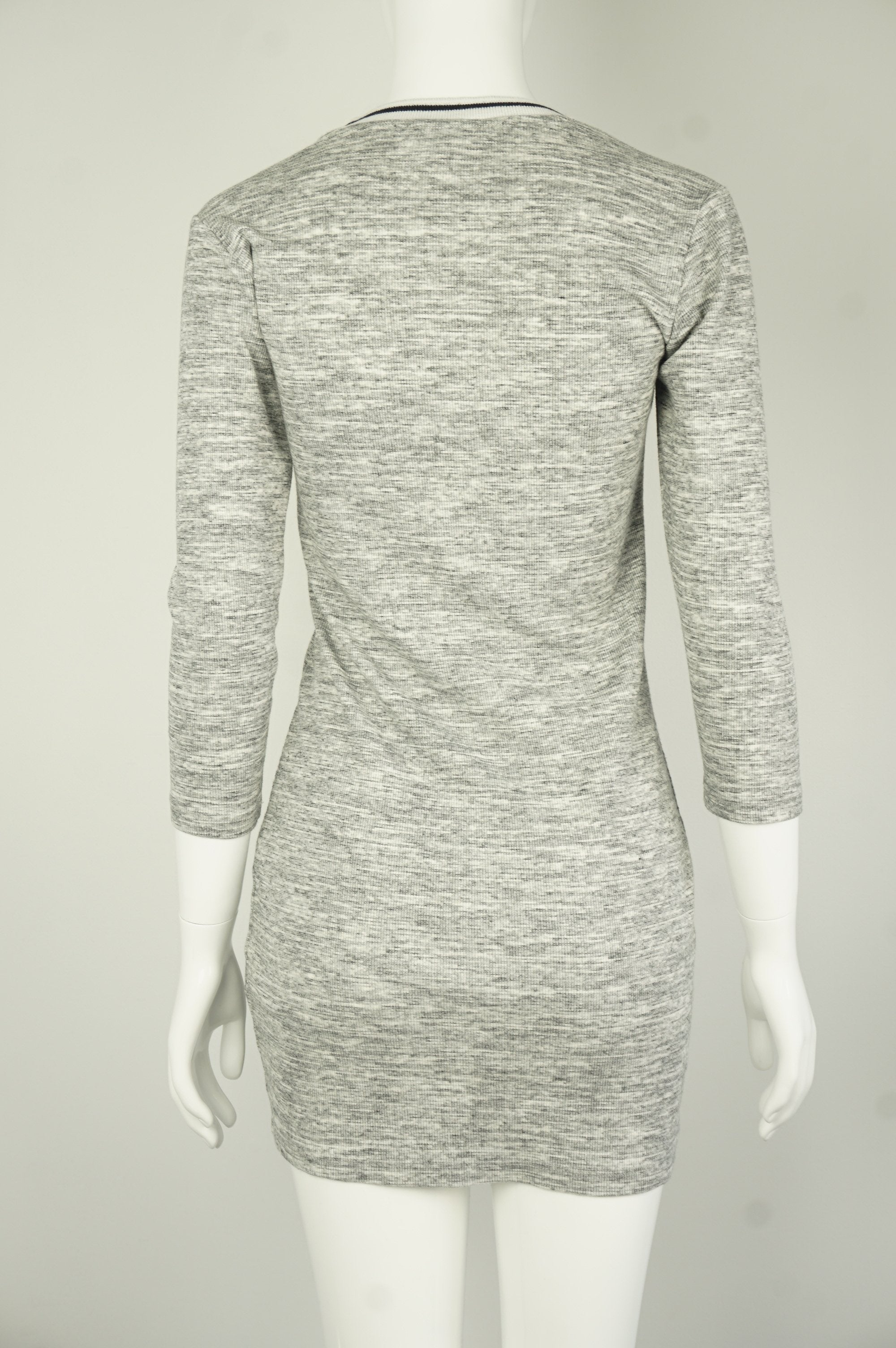 Forever 21 Simple Grey Straight-Cut Mini Dress with Striped Round Neck, Simple and comfy, this Grey Straight-Cut Mini Dress with Striped Round Neck is perfect for outings, casual hangouts, and business casual events.  , Grey, Cotton Fabric, women's Dresses & Skirts, women's Grey Dresses & Skirts, Forever 21 women's Dresses & Skirts, Simple Casual Women's Dress, Straight Cut Comfy Women's Dress, Women's Baseball Dress