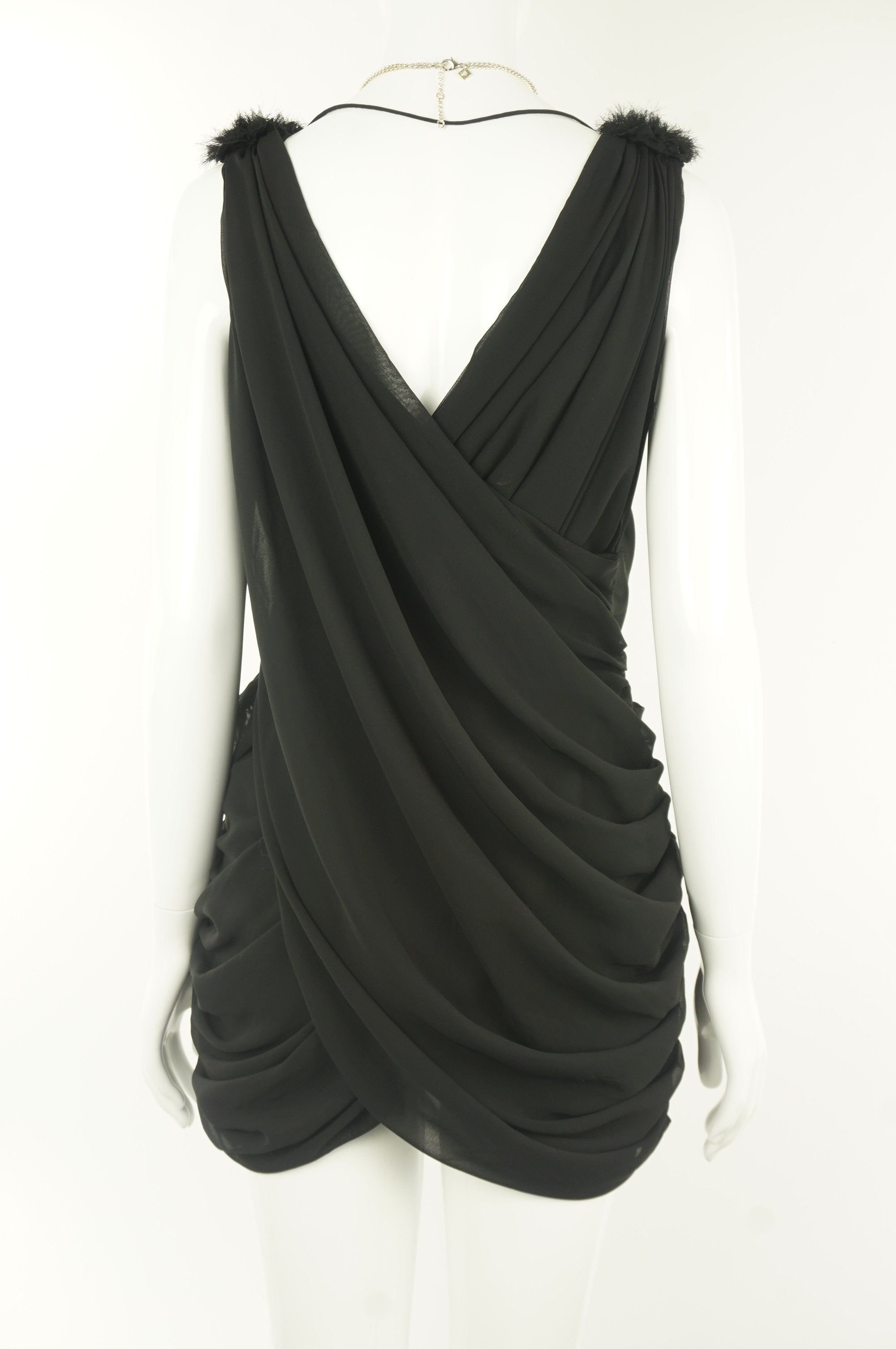 Sievergute Crossed Deep V-Neck Cocktail Dress , Sexy crossed deep v-neck cocktail black dress that makes head turn at any night parties, Black, Soft Flowy Fabric, women's Dresses & Skirts, women's Black Dresses & Skirts, Sievergute women's Dresses & Skirts, Sexy women's cocktail black dress, crossed deep v-neck open back dress, women's party short dress