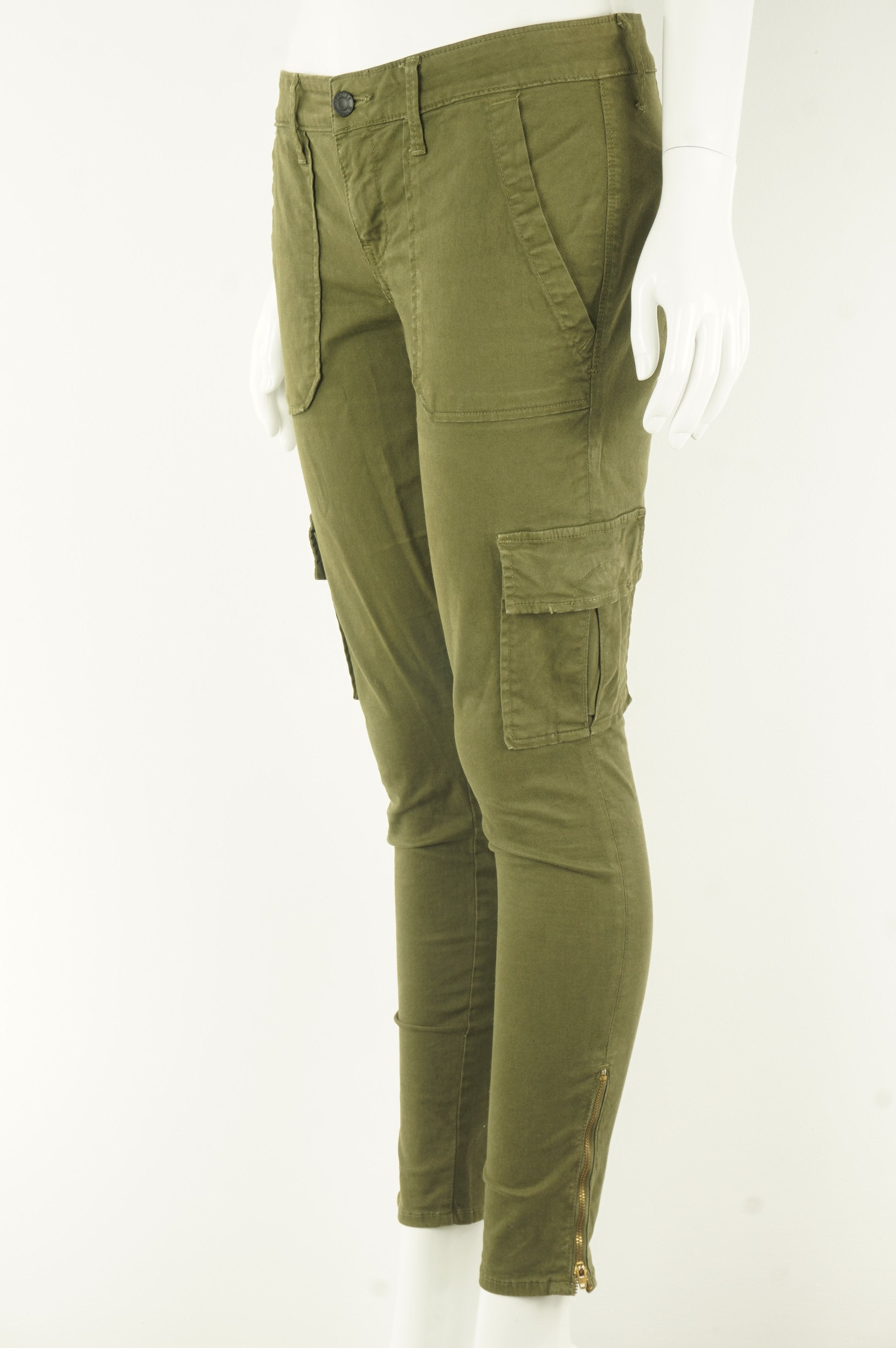Paradise Mine Army Green Skinny Stretchy Jeans, The cool kinda pair of jeans with lots of pockets. , Green, 97% Cotton, 3% Spandex, women's Pants, women's Green Pants, Paradise Mine women's Pants, women's skinny denim pants with big front pockets, aritzia women's green straight jeans/denim
