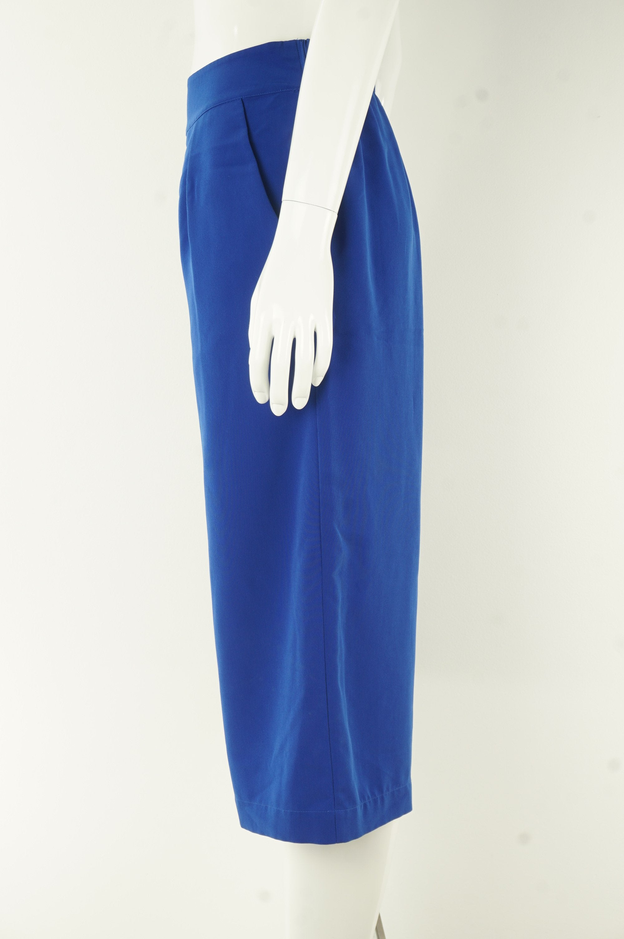 H Halston Cropped Wide Legged Pants, Casual or formal, you call. Comfort is garanteed!, Blue, 100% polyester, women's Pants & Shorts, women's Blue Pants & Shorts, H Halston women's Pants & Shorts, women's cropped wide-legged pants, women's comfortable loose pants
