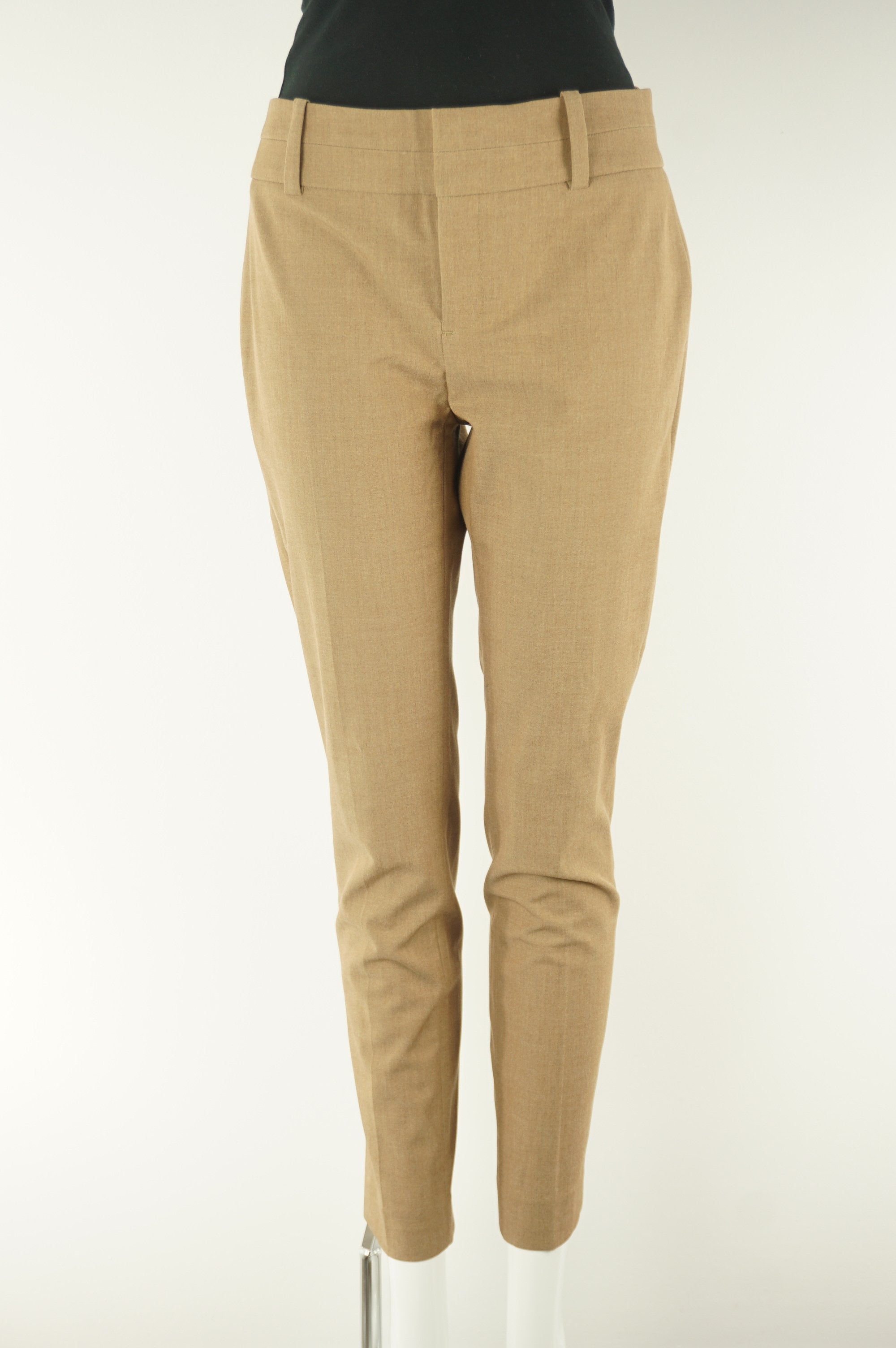 Calvin Klein Stretchy Dress Pants, A clean and professional pair of pants for the best boardroom impresseion (not that you need it, cuz you are killing it already). Not to mention the comfortableness provided by the stretchy fabric. , Brown, 67% Polyester, 29% Rayon, 4% Elastane, women's Pants & Shorts, women's Brown Pants & Shorts, Calvin Klein women's Pants & Shorts, comfortable women's dress pants, women's professional pants