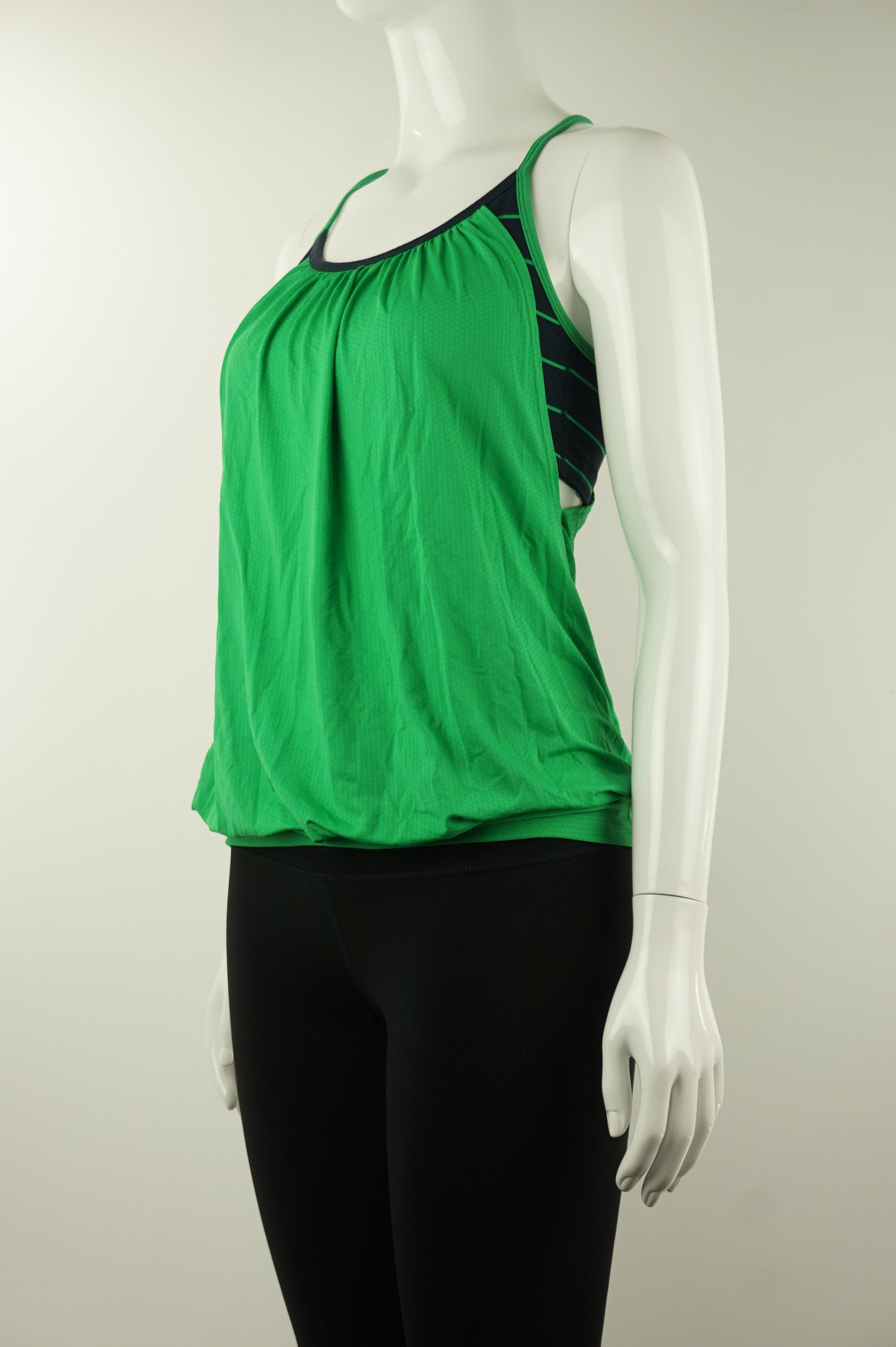 Lululemon Tank Top with Built-in Bra, Bright tank top with built-in bra for all your athletic needs. , Green, Blue, Cotton and Lyocel, women's Activewear, Tops, women's Green, Blue Activewear, Tops, Lululemon women's Activewear, Tops, women's tank top, lululemon women's athletic top