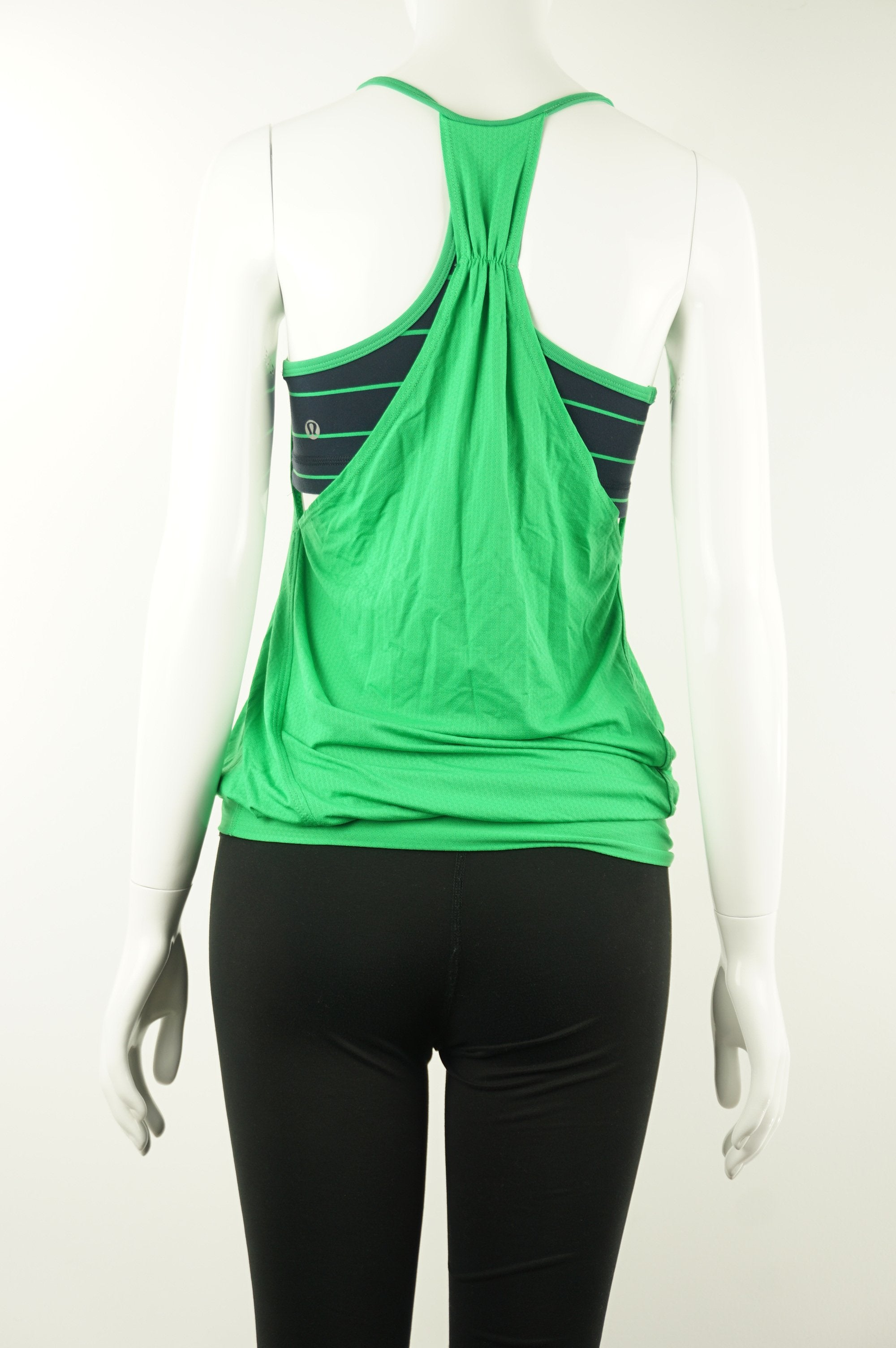 Lululemon Tank Top with Built-in Bra, Bright tank top with built-in bea for all your atheletic needs. , Green, Blue, Cotton and Lyocel, women's Activewear, Tops, women's Green, Blue Activewear, Tops, Lululemon women's Activewear, Tops, women's tabk top, lululemon women's athletic top