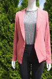 Dynamite Pink Open Stretchy Blazer, Super comfortable blazer for the stylish commuter., Pink, 91% Polyester, 9% Spandex, women's Jackets & Coats, women's Pink Jackets & Coats, Dynamite women's Jackets & Coats, blazer, pink blazer, coat, jacket, open jacket, open blazer, open coat, open blazer