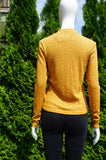 DIVIDED Long Sleeve Choker Neck Sweater, Sexy and feminine choker design. Comfortable and stretchy., Yellow, 47% Polyester, 40% Viscose, 10% Metalised fiber, 3% Elastane, women's Tops, women's Yellow Tops, DIVIDED women's Tops, sexy choker, choker sweater, choker top, long sleeve sweater, long sleeve top