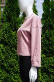 Moussy Comfy Wide Long Sleeve Pink Sweat Top, Comfortable one size top made from 100% cotton., Pink, 100% Cotton, women's Tops, women's Pink Tops, Moussy women's Tops, sweat top, pink long sleeve sweater, long sleeve sweat top, casual top, comfy top