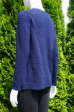 Massimo Dutti Blue Long Sleeve Cashmere Wool Blend Sweater with Side Slits, Simple and elegant warm sweater., Blue, Wool Cahmere, women's Tops, women's Blue Tops, Massimo Dutti women's Tops, long sweater, cashmere sweater, wool sweater, sweater top, winter top, sprint top,