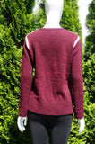 Massimo Dutti Round Neck Sweater With Side Slits, Comfortable sweater made with cashmere and wool blend., Red, Wool Cashmere, women's Tops, women's Red Tops, Massimo Dutti women's Tops, sweater, winter top, winter sweater, cashmere sweater, wool sweater,