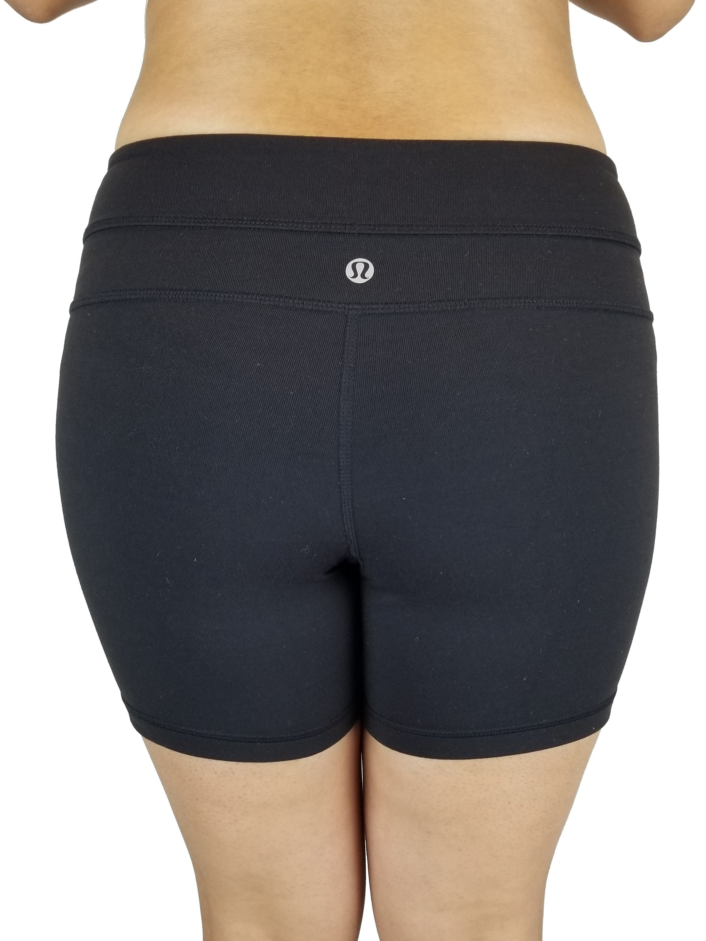 "Lululemon Black Align Yoga Shorts 4"", Vancouver street wear/Yoga pants. Lululemon size 6. https://info.lululemon.com/help/size-chart, Black, Nylon, Lycra, and Spandex, Yoga, yoga pants, athletic wear, work out, comfortable pants, fitness, fit"