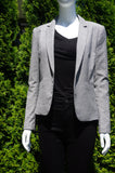 H&M Checkered Grey One Button Blazer, Stylish and professional blazer for your everyday office wear. Stretchable material for added comfort., Grey, 70% Polyester, 28% Viscose, 2% Elastane, women's Jackets & Coats, women's Grey Jackets & Coats, H&M women's Jackets & Coats, professional blazer, work clothes, work jacket, work coat, work top, professional office wear, office jacket, office coat