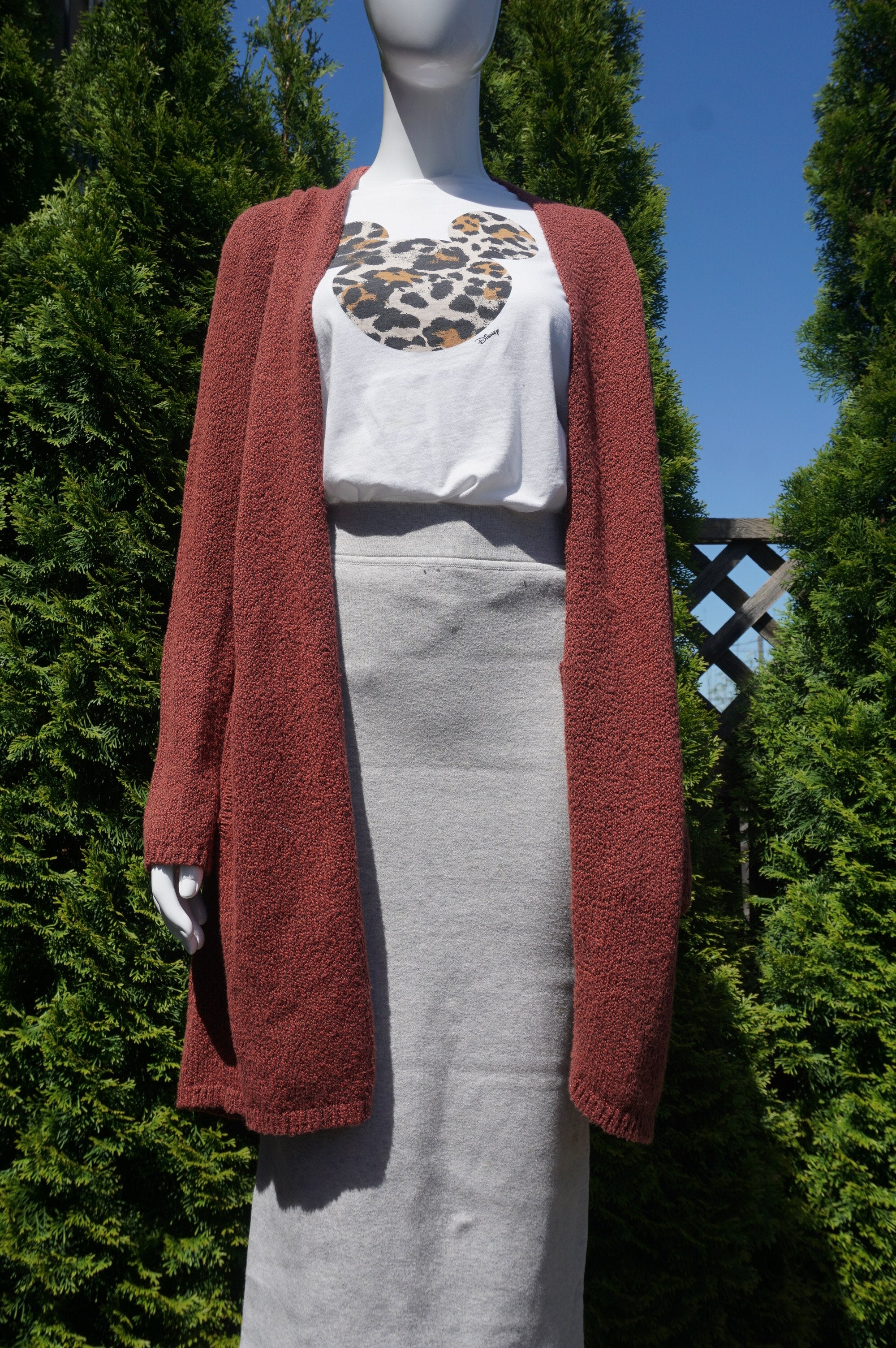 The Group Babaton Long Cardigan, Super comfy long cardigan. Put it on  the chilly evening walks, or whenever you feel like it., Red, 88% Cotton, 12% Polyester, women's Jackets & Coats, women's Red Jackets & Coats, The Group Babaton women's Jackets & Coats,