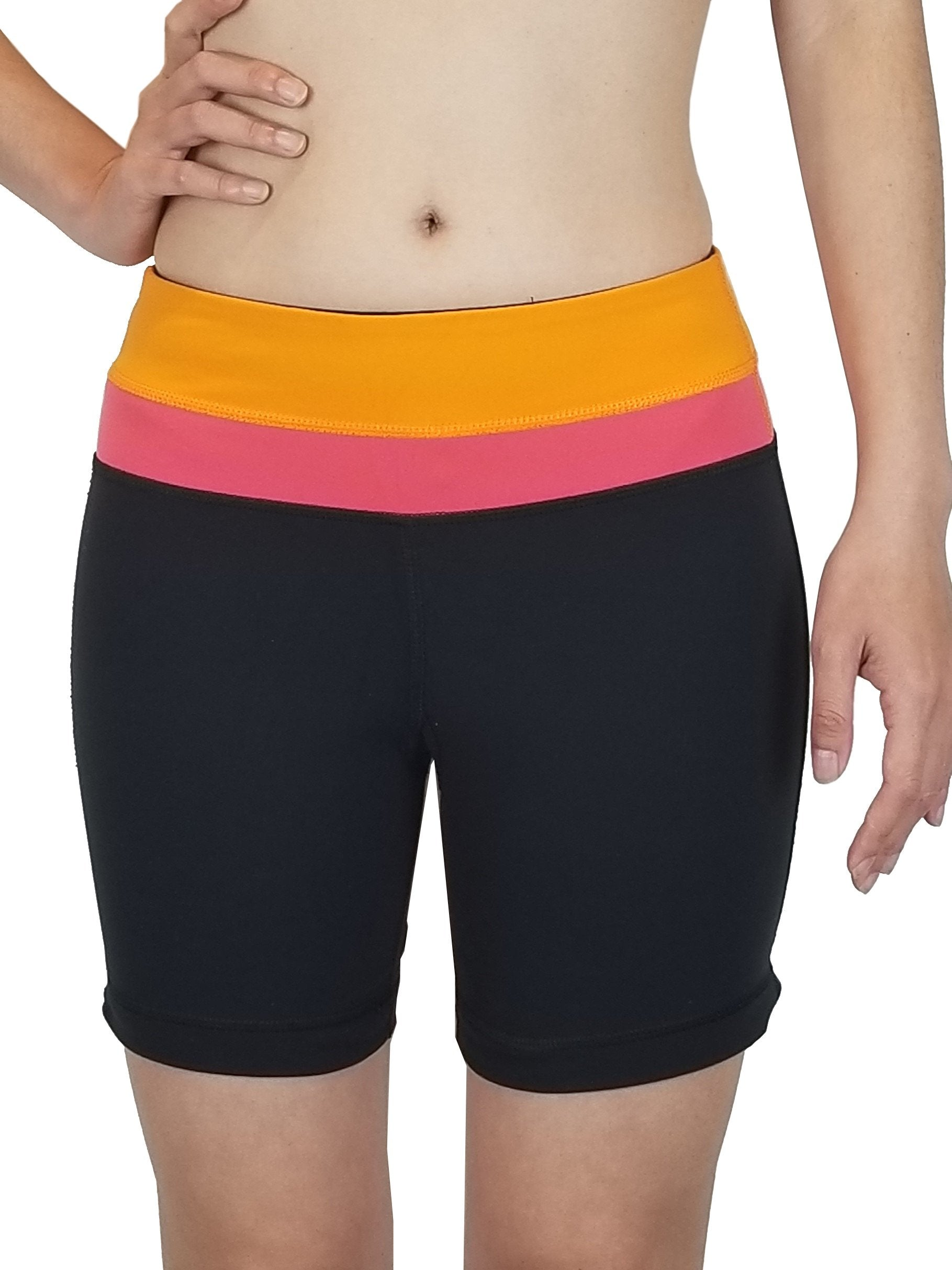 Lululemon Align Shorts 4'' Yoga, High waist align shorts perfect for your active life style. Lululemon size 2. https://info.lululemon.com/help/size-chart, Black, Orange, Pink, Ntlon, Lycra, and Spandex, women's Activewear, women's Black, Orange, Pink Activewear, Lululemon women's Activewear, Yoga, yoga pants, athletic wear, work out, comfortable pants, fitness, fit