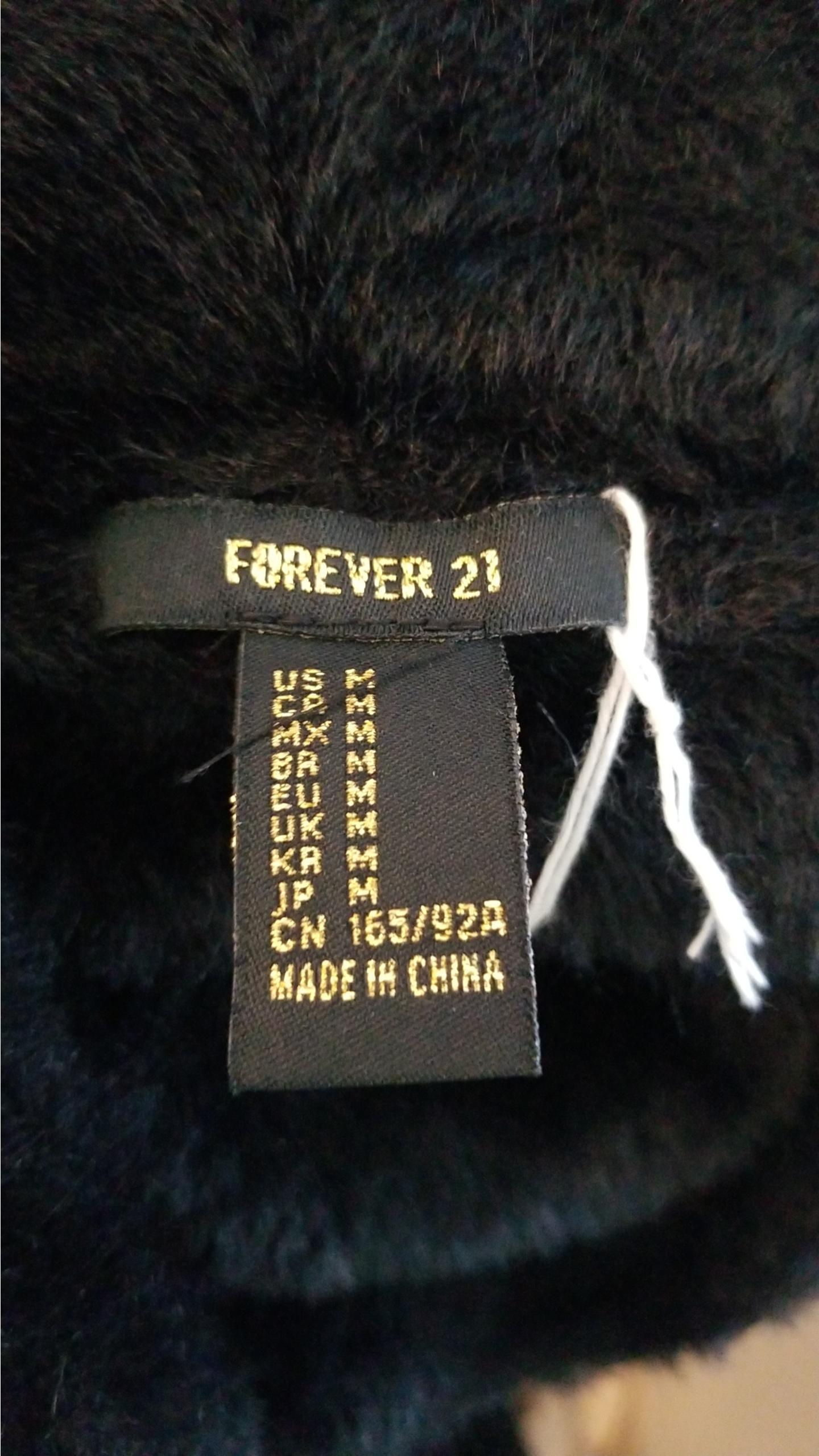 Forever 21 Black Faux Fur Warm Sweater, , Black, , women's Tops, women's Black Tops, Forever 21 women's Tops, black sweater, fur sweater, warm top