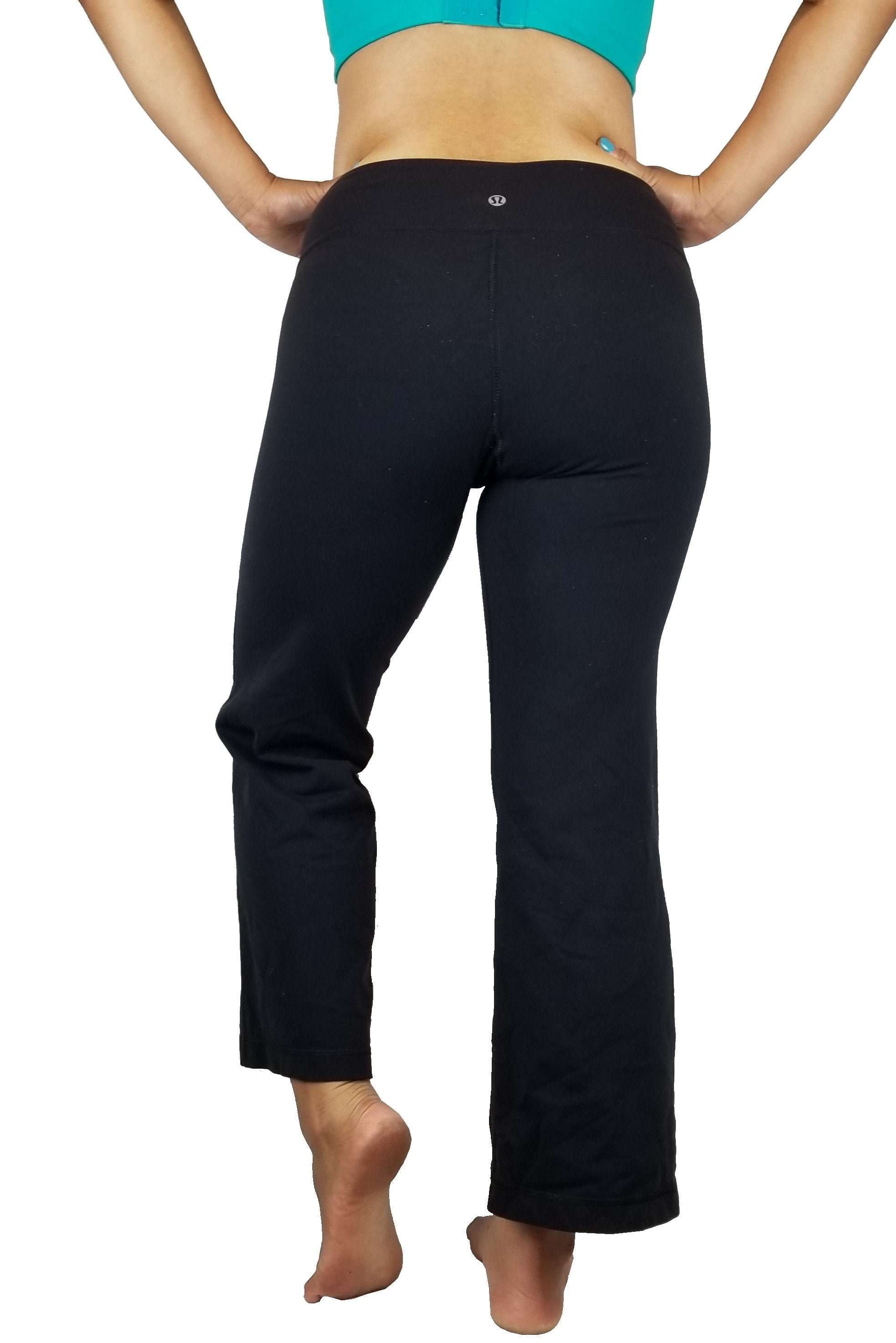 Lululemon Flare yoga pants, Flare design for comfort and breathability. Less of a Vancouver street wear? Lululemon size 4. https://info.lululemon.com/help/size-chart, Pink, Nylon, Lycra, and Spandex, Yoga, yoga pants, women's athletic wear, women's work out clothes, women's comfortable pants, fitness, fit
