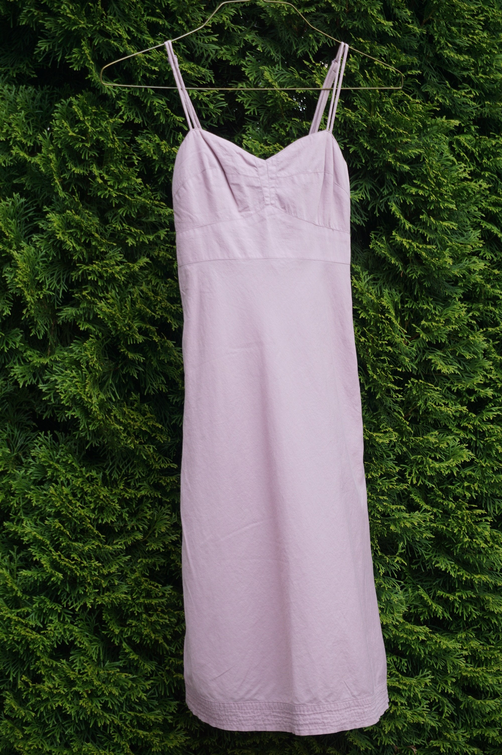 Community Light Pink Long Simple Dress, Bust 26, waist 22, length 37 (inches). Elastic back and waist to allow some size differentials. Adjustable strap on top. Zipper on the side. Lined with same organic cotton , Pink, 100% Organic Cotton, women's Dresses & Rompers, women's Pink Dresses & Rompers, Community women's Dresses & Rompers, cotton dress, simple dress, bodycon dress, summer dress