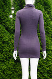 Forever 21 Light Purple Ling Sleeve Sweater Dress, Bust 32, waist 27, length 29 (inches) stretchy, Purple, 40% Viscose, 40% Nylon, 20% Cotton, women's Dresses & Rompers, women's Purple Dresses & Rompers, Forever 21 women's Dresses & Rompers, sweater dress, warm dress, long sleeve dress
