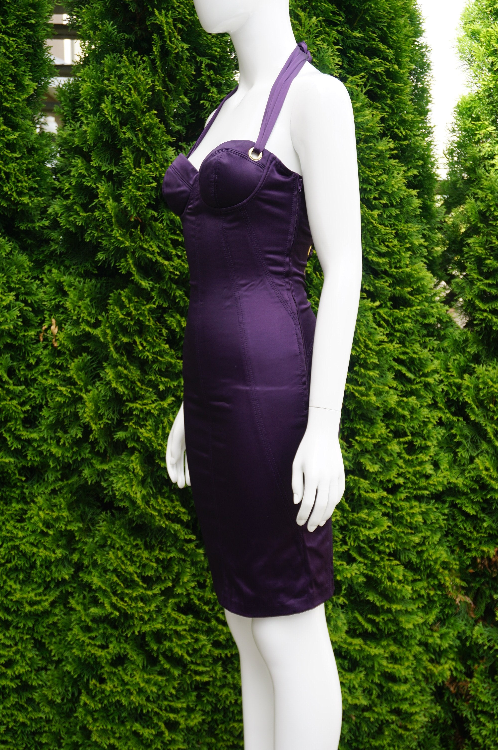Marciano Purple Sleeveless Mini Dress with Adjustable Straps, Breast 28 inches, waist 24 inches (adjsutable straps leaving some room for size differnces, length 31 inches measured from top of breast., Purple, 53% Polyester, 44% cotton, 3% Spandes, women's Dresses & Rompers, women's Purple Dresses & Rompers, Marciano women's Dresses & Rompers, mini dress, purple dress, bodycon dress,