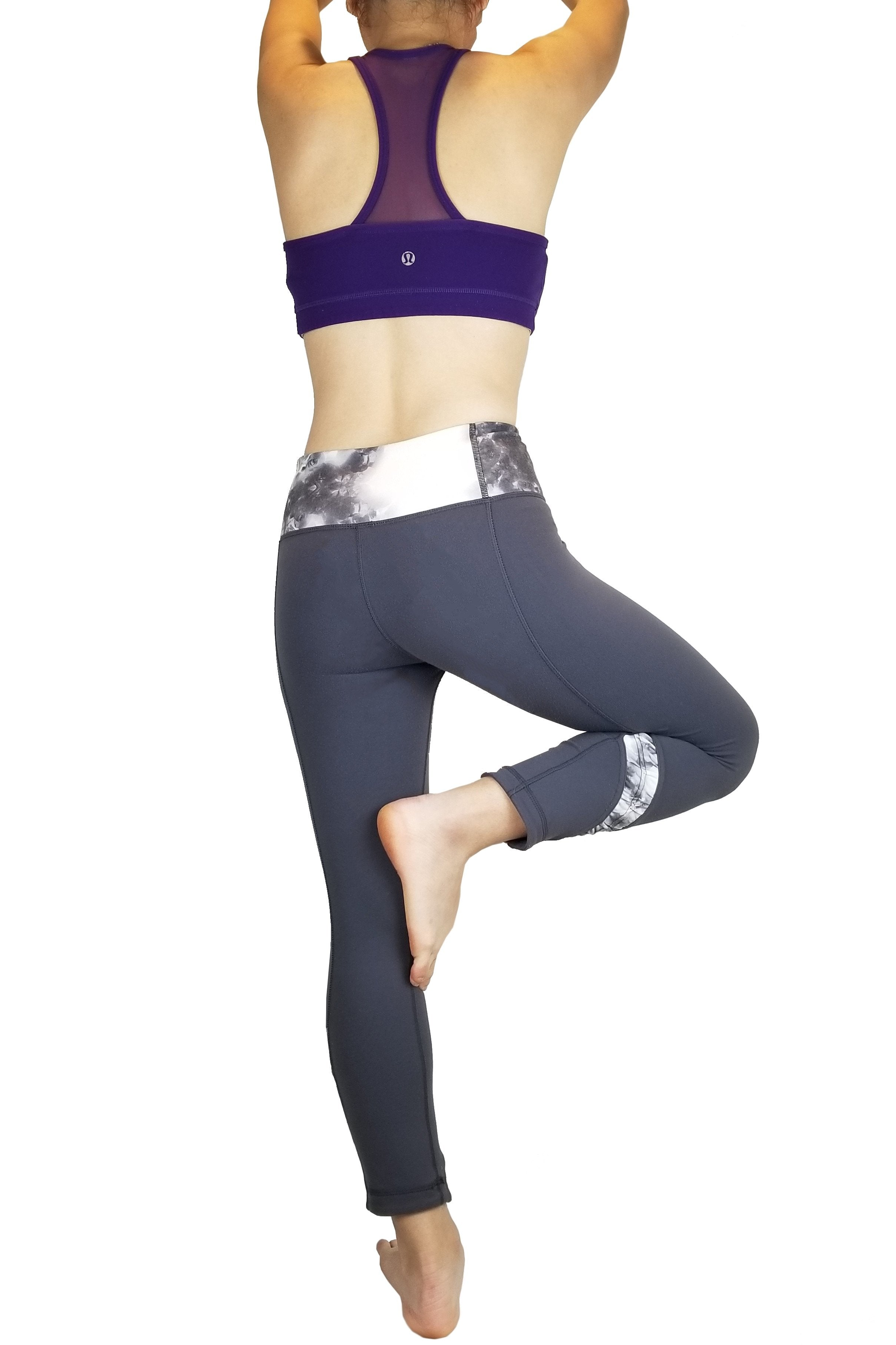 Lululemon Tight Yoga Pants, Vancouver street wear/Yoga pants. Lululemon size 4. https://info.lululemon.com/help/size-chart, Grey, Nylon, Lycra, and Spandex, Yoga, yoga pants, women's athletic wear, women's work out clothes, women's comfortable pants, fitness, fit