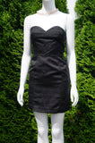 DIVIDED Strapless Heart Solid Black Sheath City Dress, Simple yet elegant, this timeless solid black sheath pencil city dress is a perfect choice for your next party/going-out night. Breast 30 inches, waist 26inches, length 26 inches measured from top of breast. , Black, women's Dresses & Rompers, women's Black Dresses & Rompers, DIVIDED women's Dresses & Rompers, Solid Black Sheath City Dress, Strapless Heart Pencil Dress