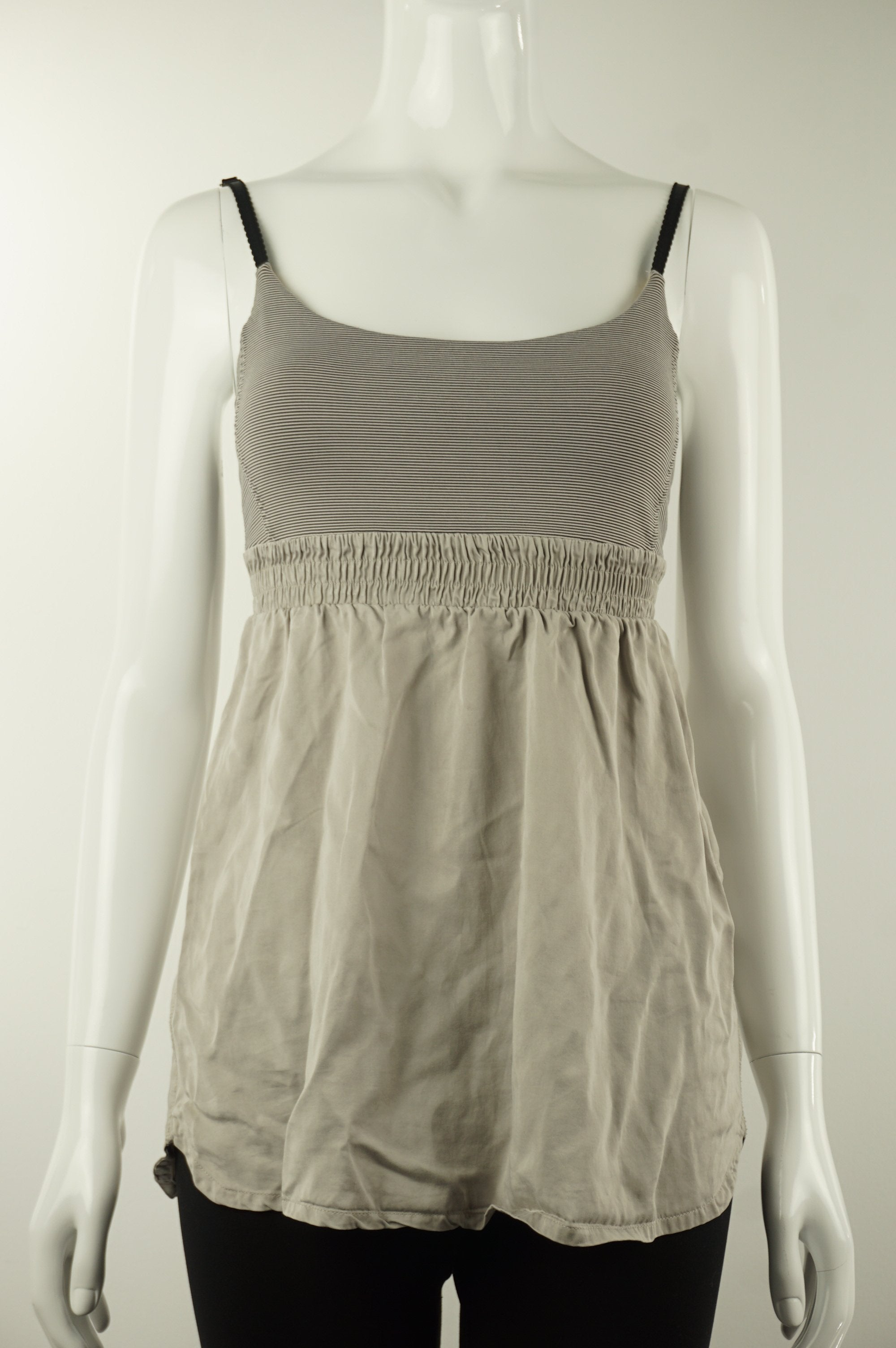 Lululemon Athletic Top, Women or girls top. Lululemon size 6. https://info.lululemon.com/help/size-chart, Grey, Yellow, Nylon, Lycra, and Spandex, women's Activewear, women's Grey, Yellow Activewear, Lululemon women's Activewear, Yoga, yoga pants, women's athletic wear, women's work out clothes, women's comfortable pants, fitness, fit
