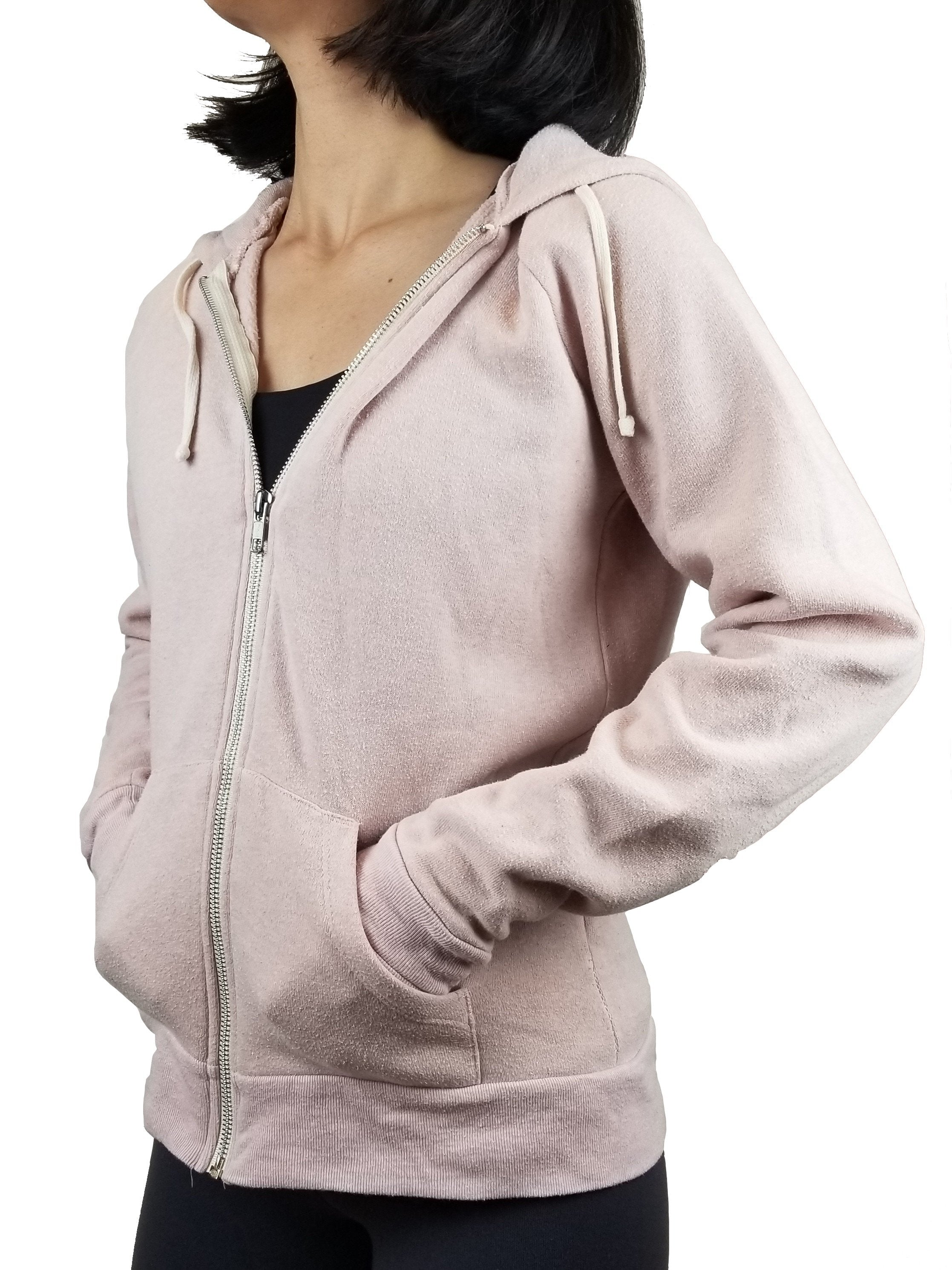 Alternative Women's Zip Hoodie, Warm hoodie, Pink, 59% Polyester, 46% cotton, 4% rayon., women's Jackets & Coats, women's Pink Jackets & Coats, Alternative women's Jackets & Coats, Jacket, hoddie, sweater