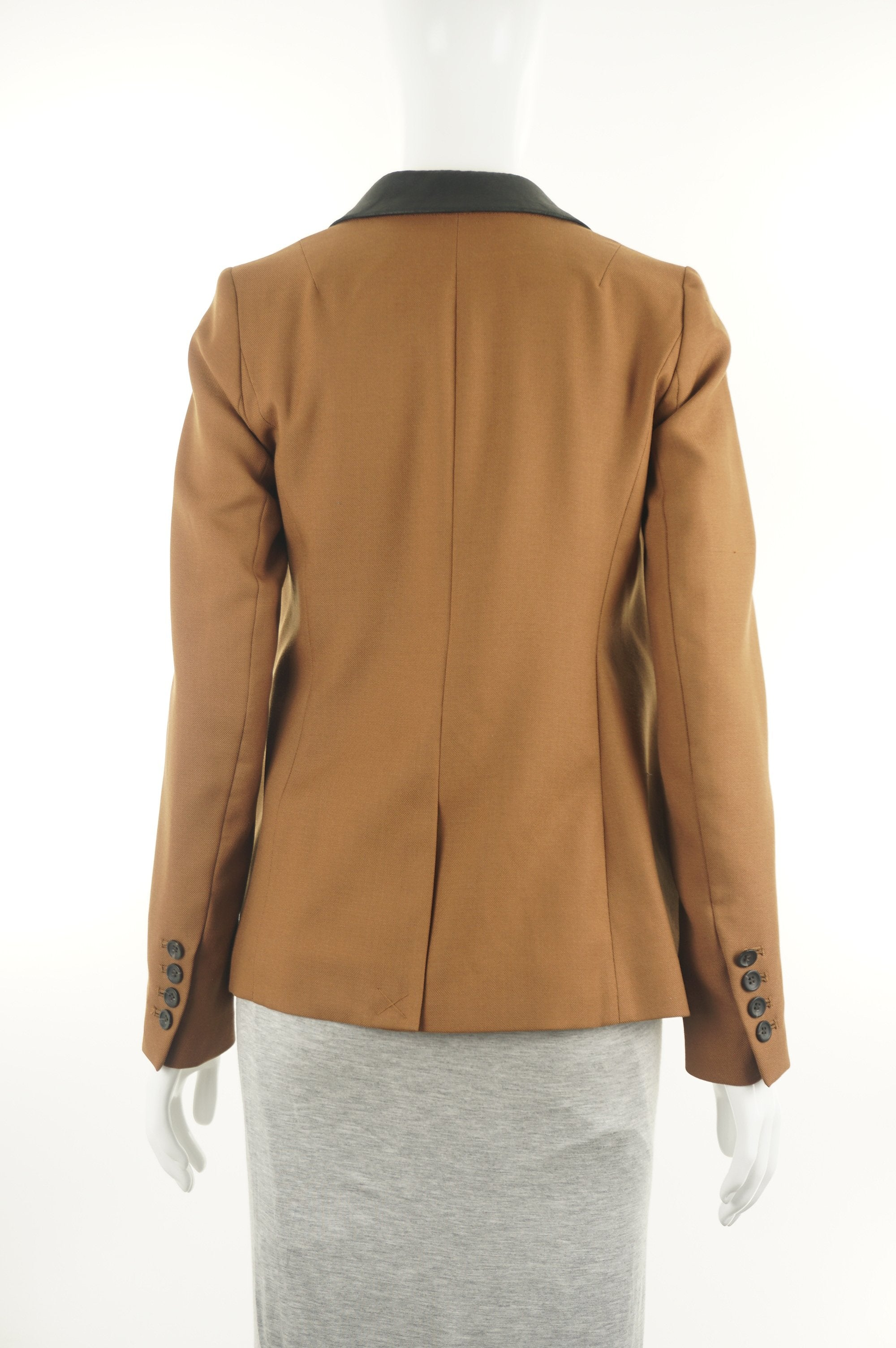 Club Monaco Brown Business Casual Jacket, Business and fashionable? Look no further! This brown business casual jacket is what you've been searching for., Brown, Shell: 55% Wool, 45% Polyester. Lining: 100% Polyester, jacket, women's brown jacket with leather black collar, women's designer brown suit jacket, women's professional wear