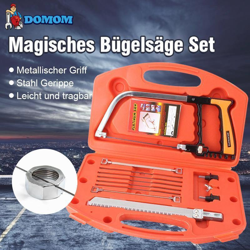 DOMOM Mini Multifunktionale Bügelsäge Tragbare 12 in 1 Säge Set - hallohaus