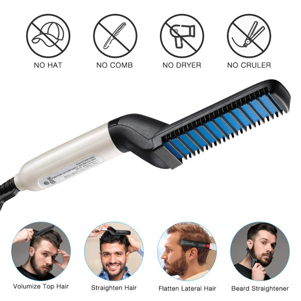 Multi-functional Hair and Beard Straightener