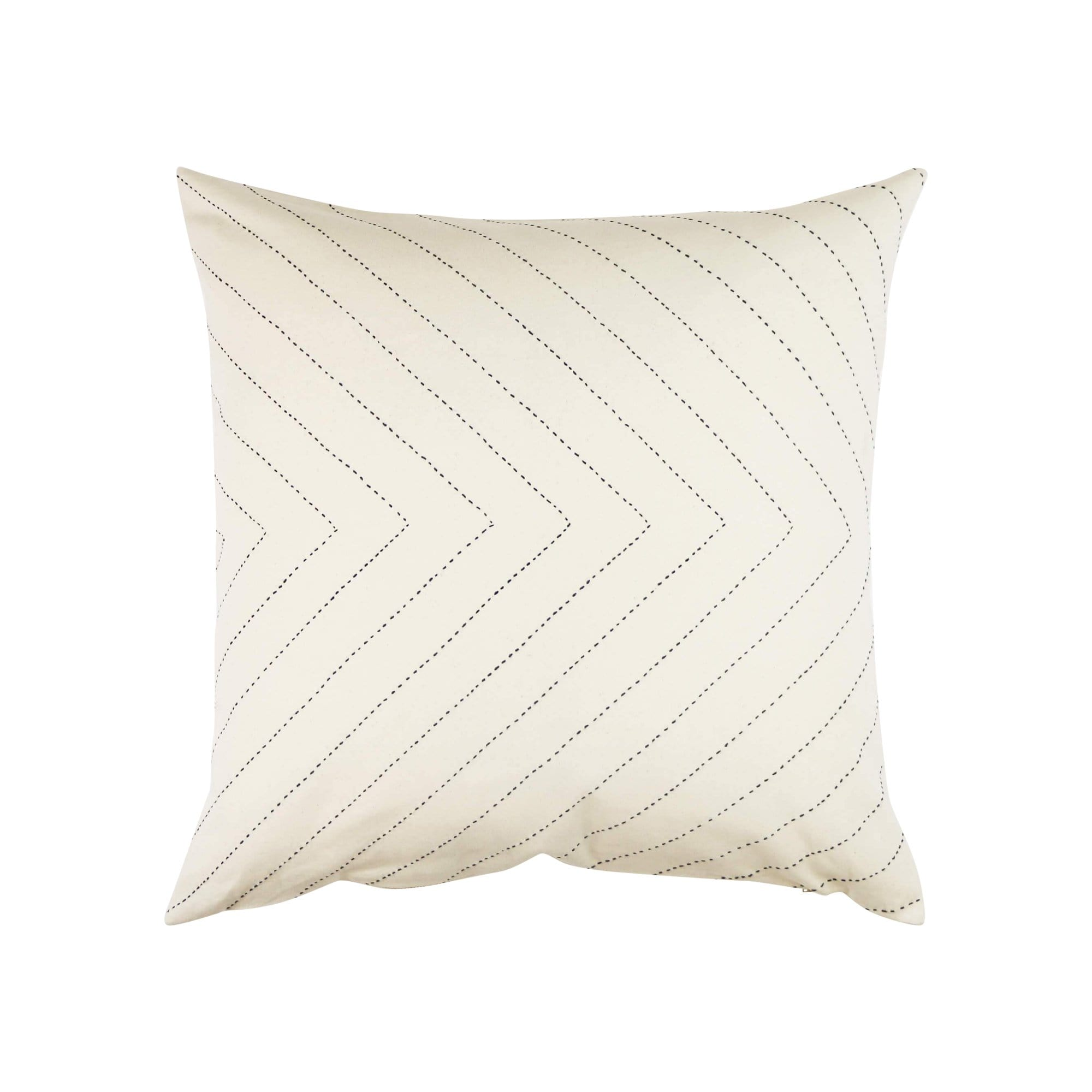 Anchal Project Cushions + Throws Bone Arrow-Stitch Throw Pillow