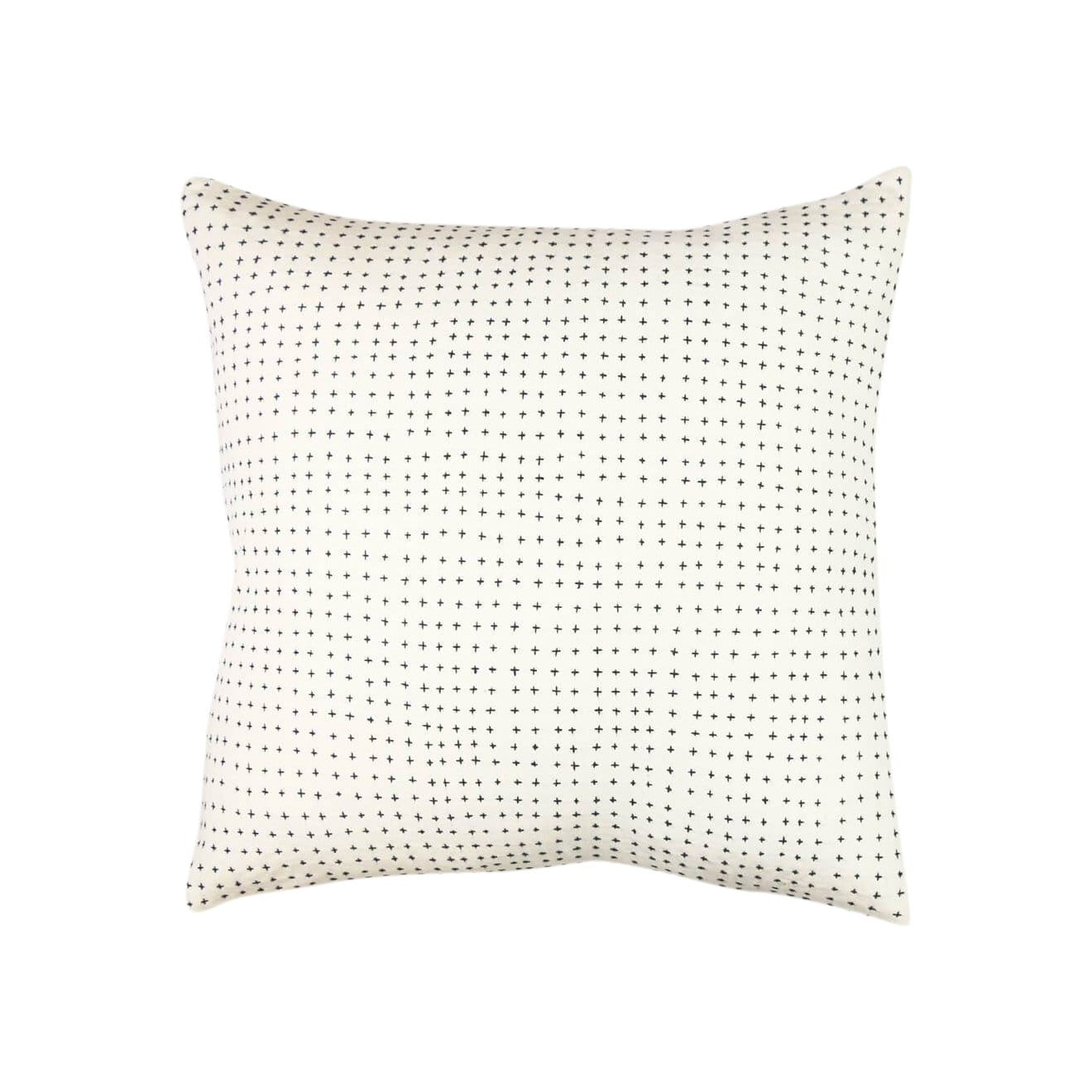 Anchal Project Cushions + Throws Bone Cross-Stitch Throw Pillow
