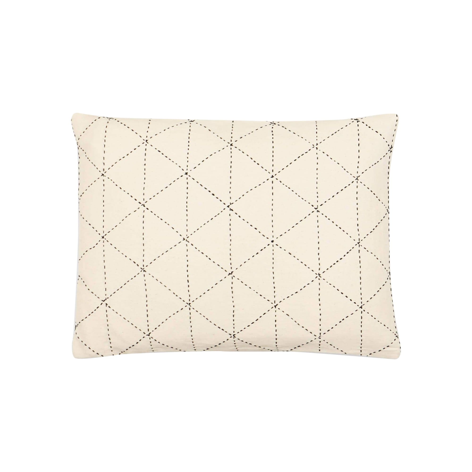 Anchal Project Cushions + Throws Bone Small Graph Throw Pillow