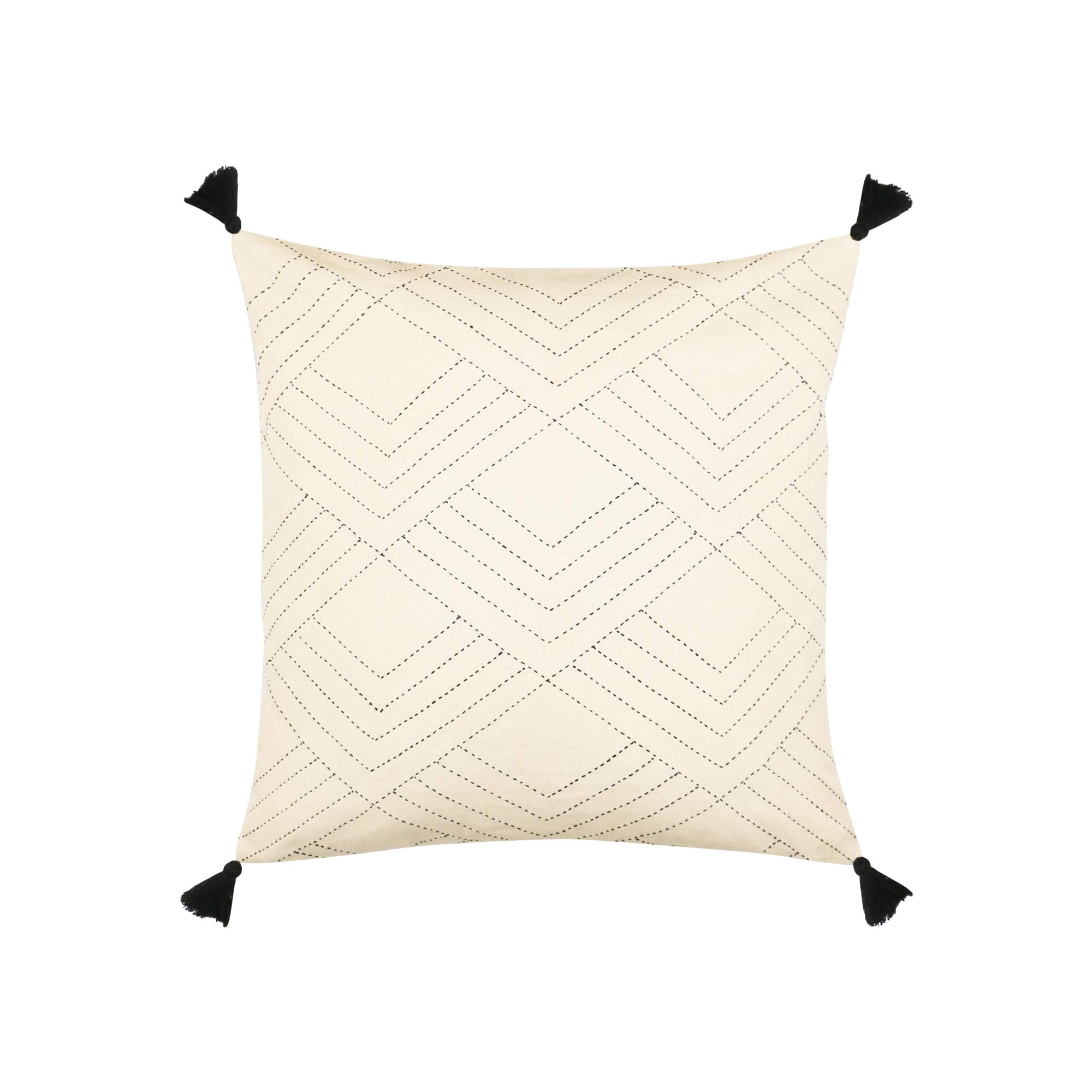 Anchal Project Cushions + Throws Bone Tilt Throw Pillow