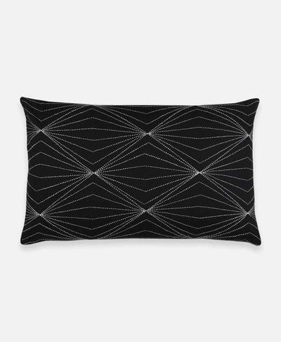 Anchal Project Cushions + Throws Charcoal Prism Lumbar Pillow