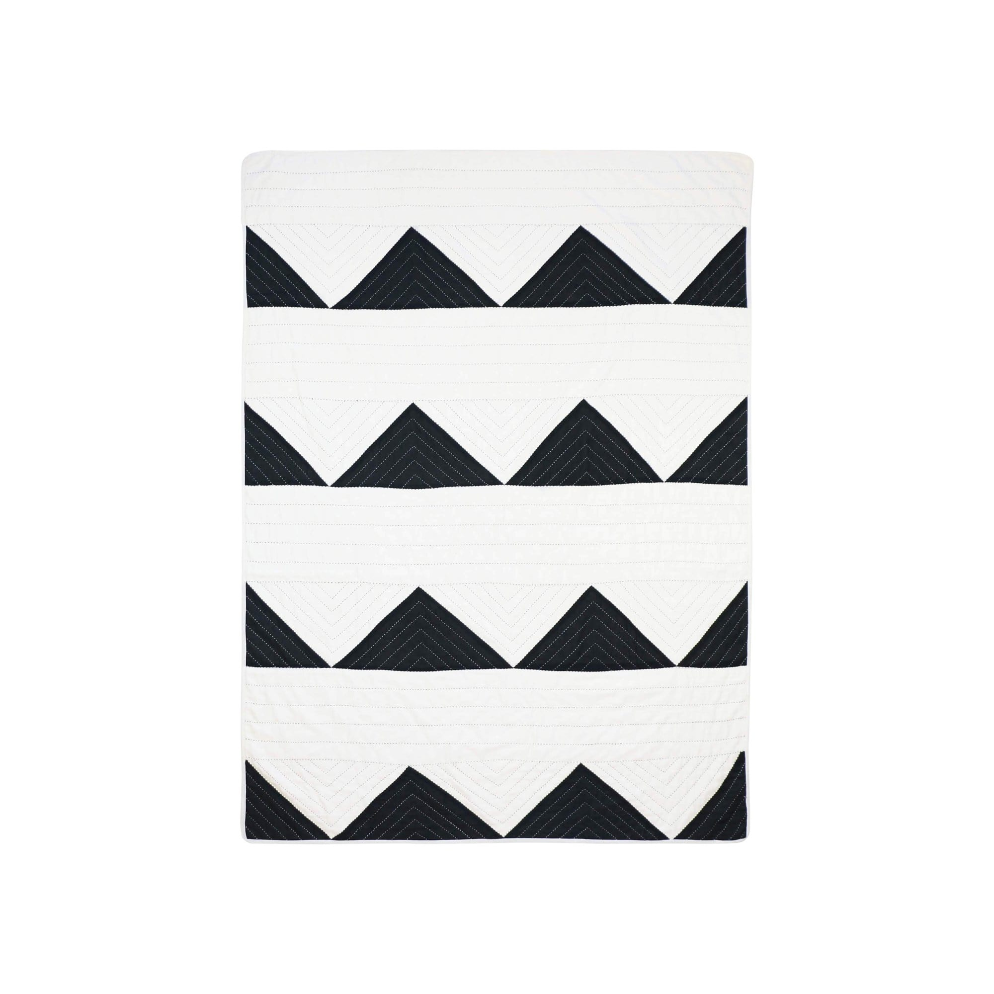 Anchal Project Cushions + Throws Charcoal Triangle Throw